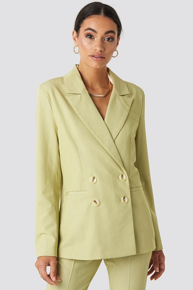 Straight Fit Double Breasted Blazer NA-KD Classic