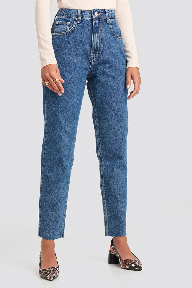Straight Jeans Mid Blue