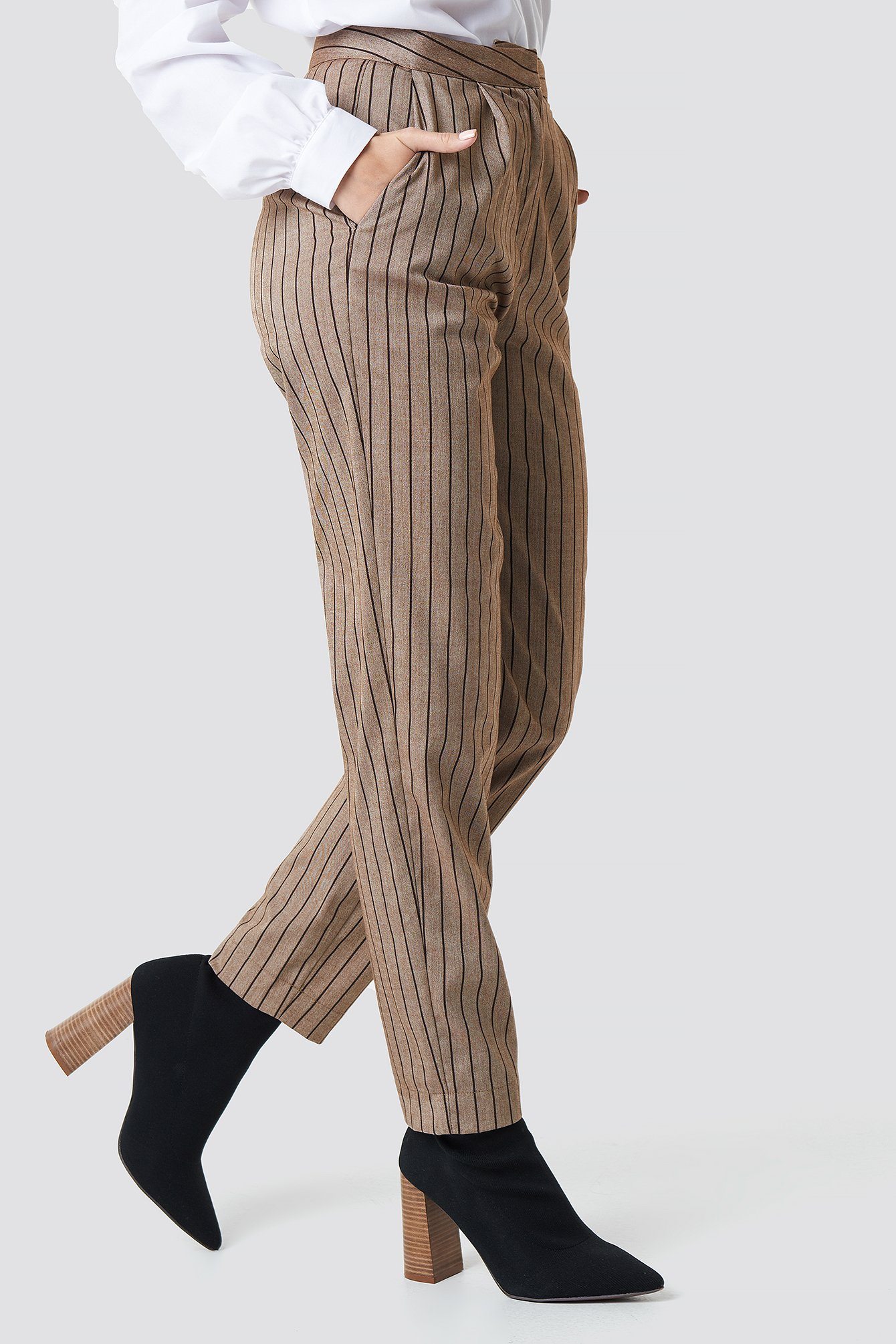 Straight Leg Striped Suit Pants NA-KD.COM