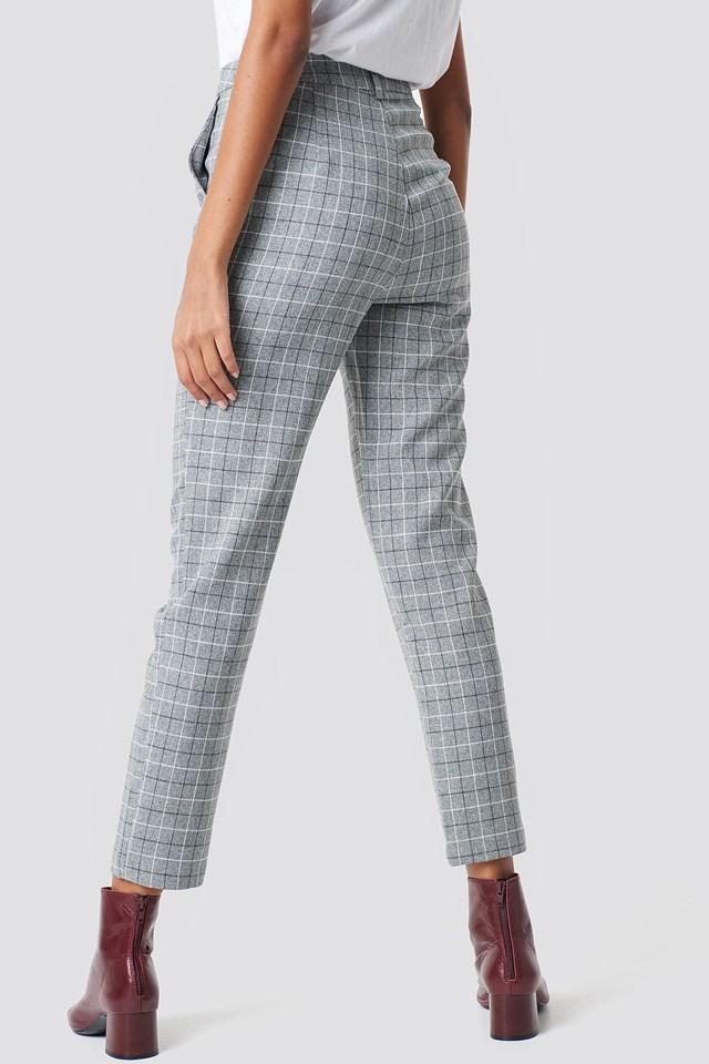 Straight Leg Suit Pants Check