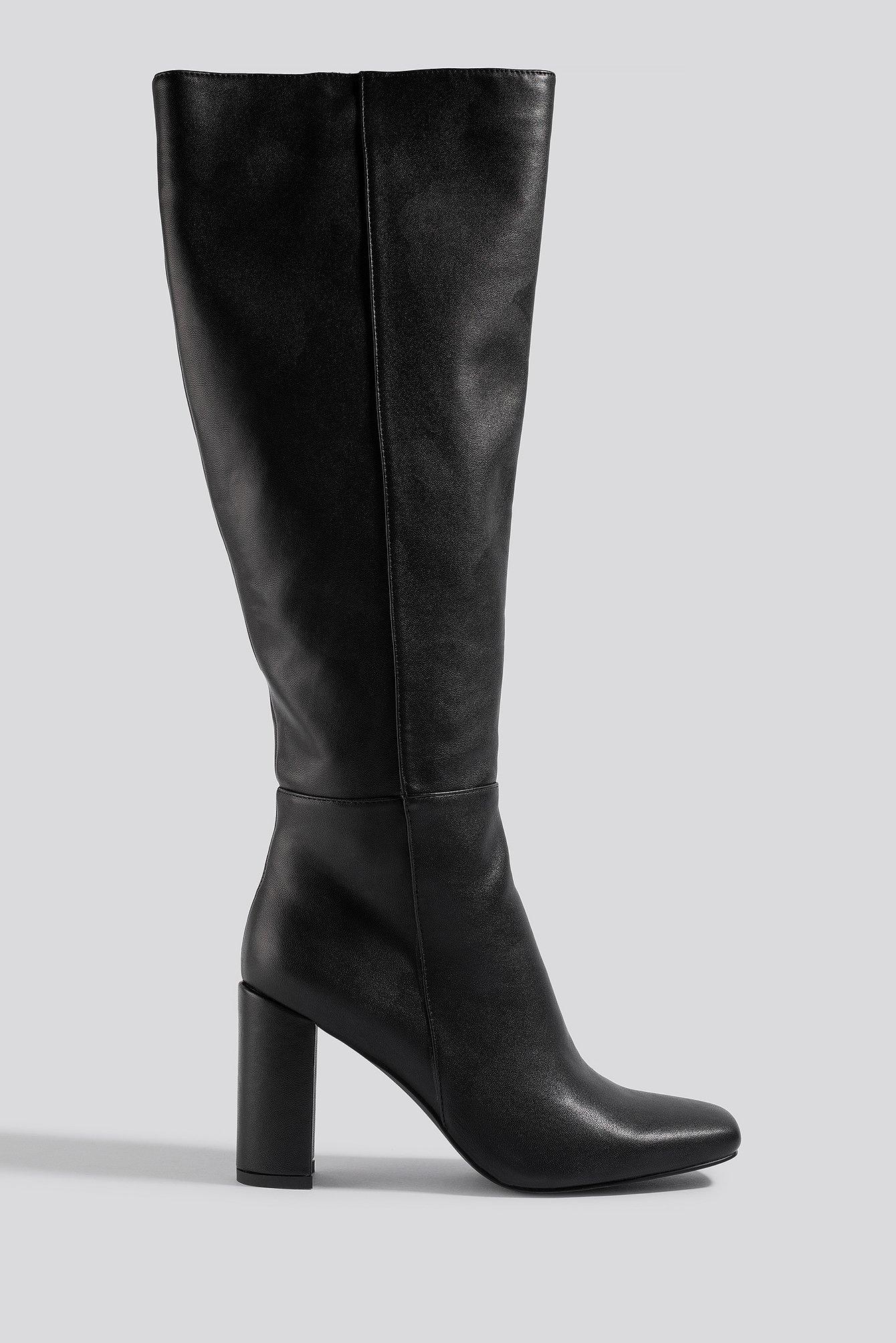 na-kd shoes -  Straight Shaft Knee High Boots - Black