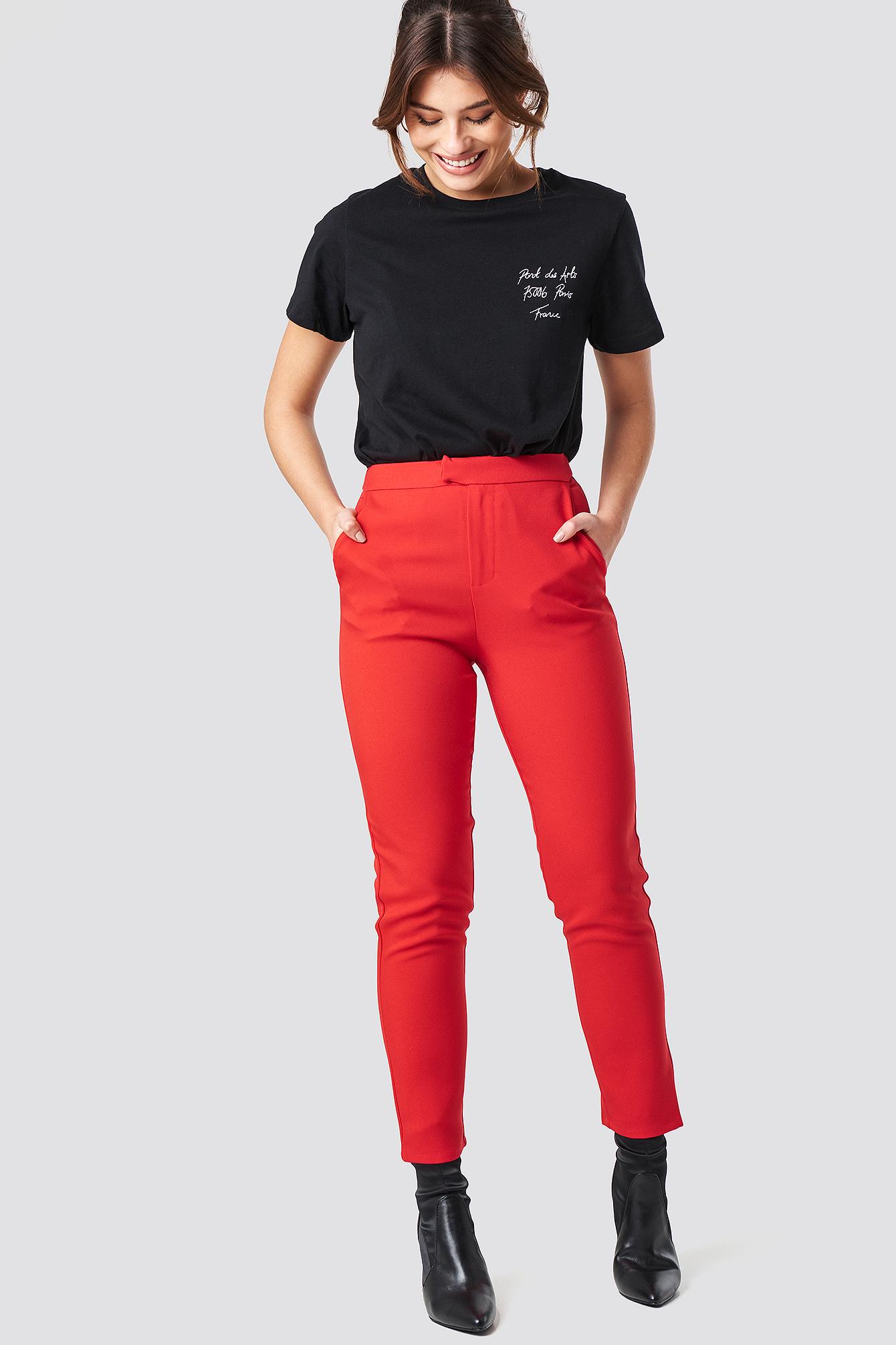 Proste spodnie garsonkowe NA-KD.COM