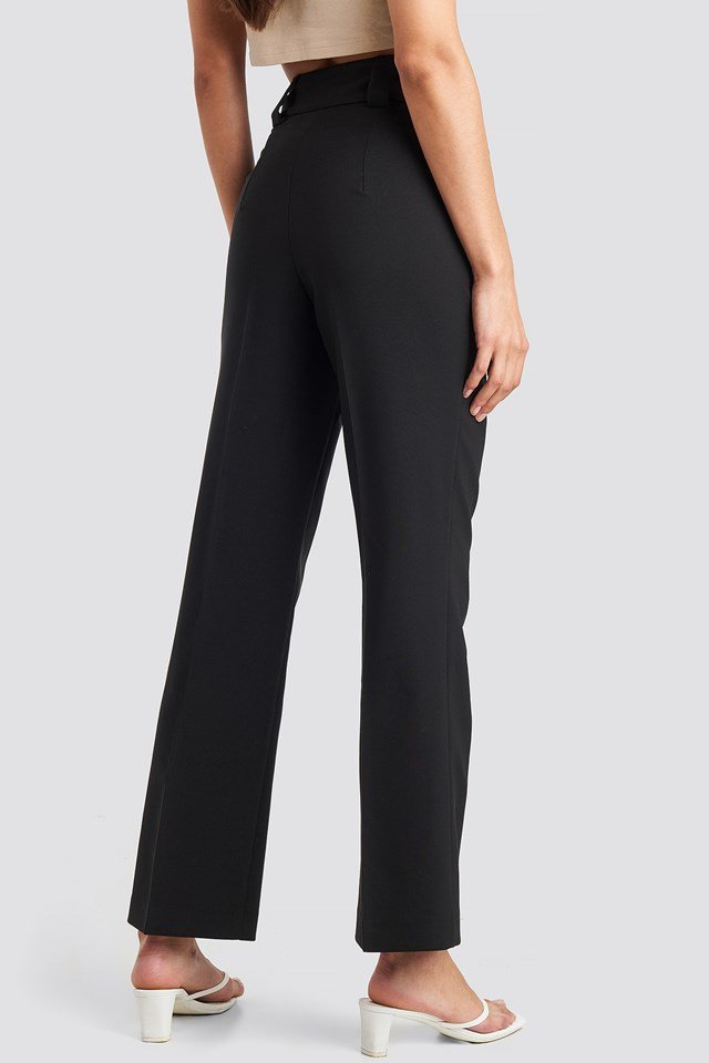 Straight Suit Pants Black