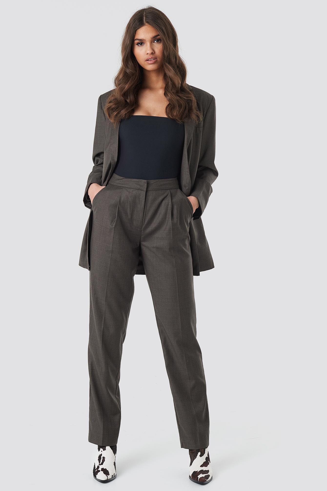 Straight Suit Pants NA-KD.COM