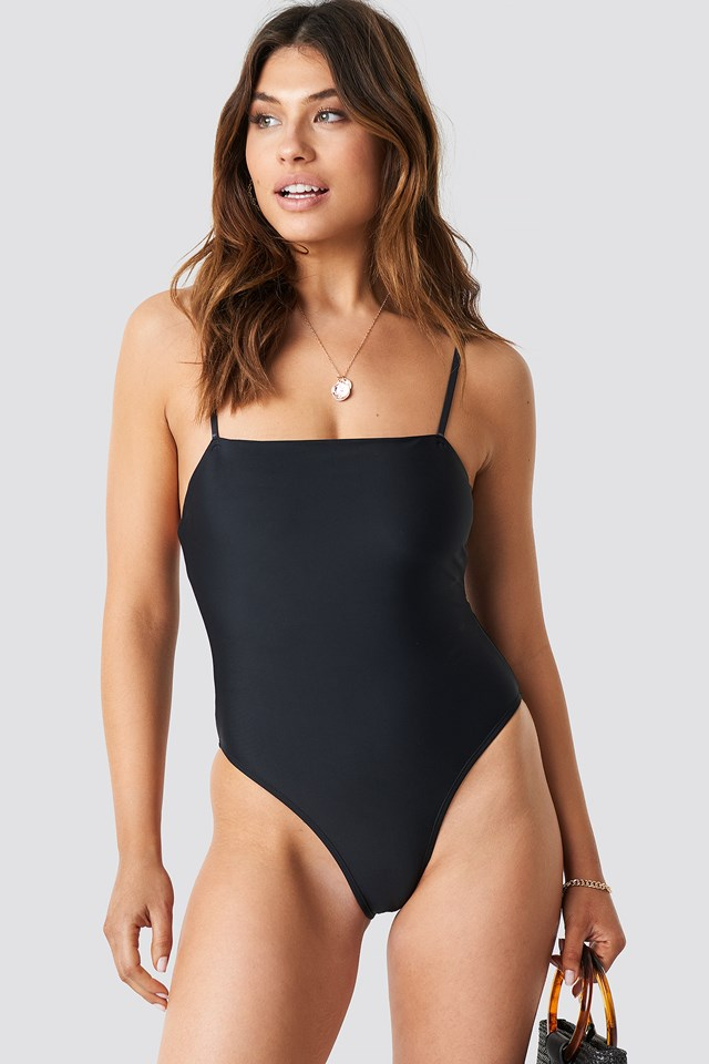 Straight Swimsuit Black
