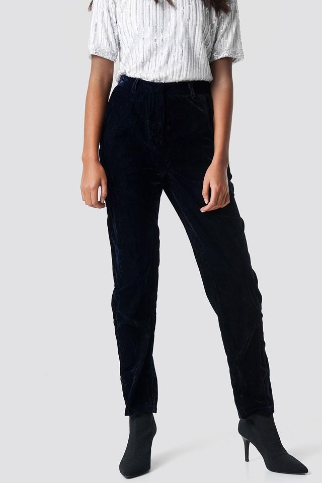 Straight Velvet Suit Pants NA-KD.COM