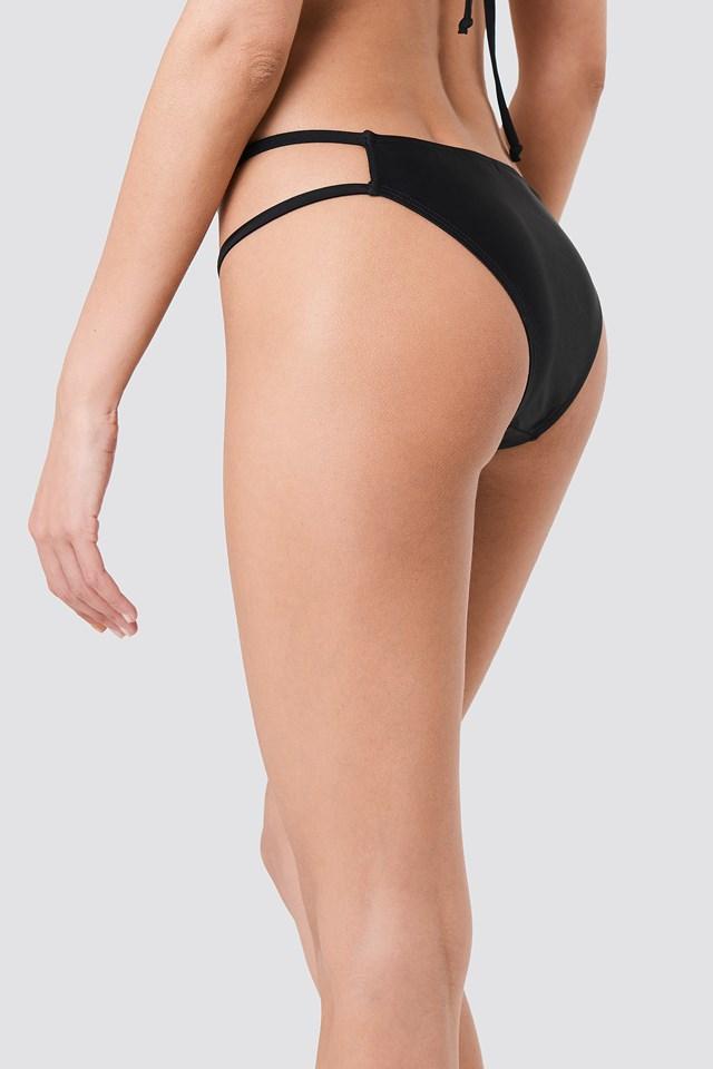 Strap Bikini Bottom Black