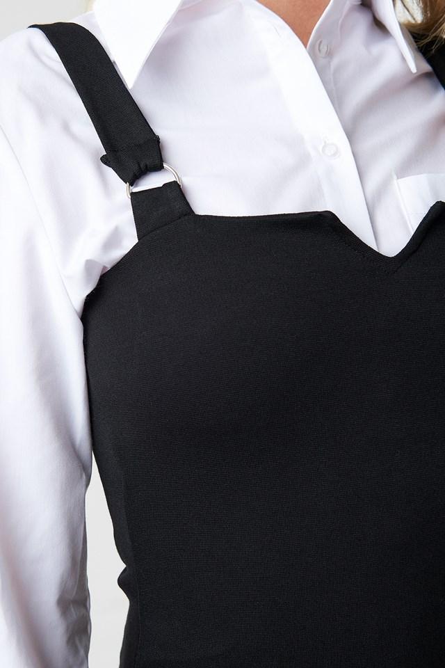 Strap Detail Dress Black