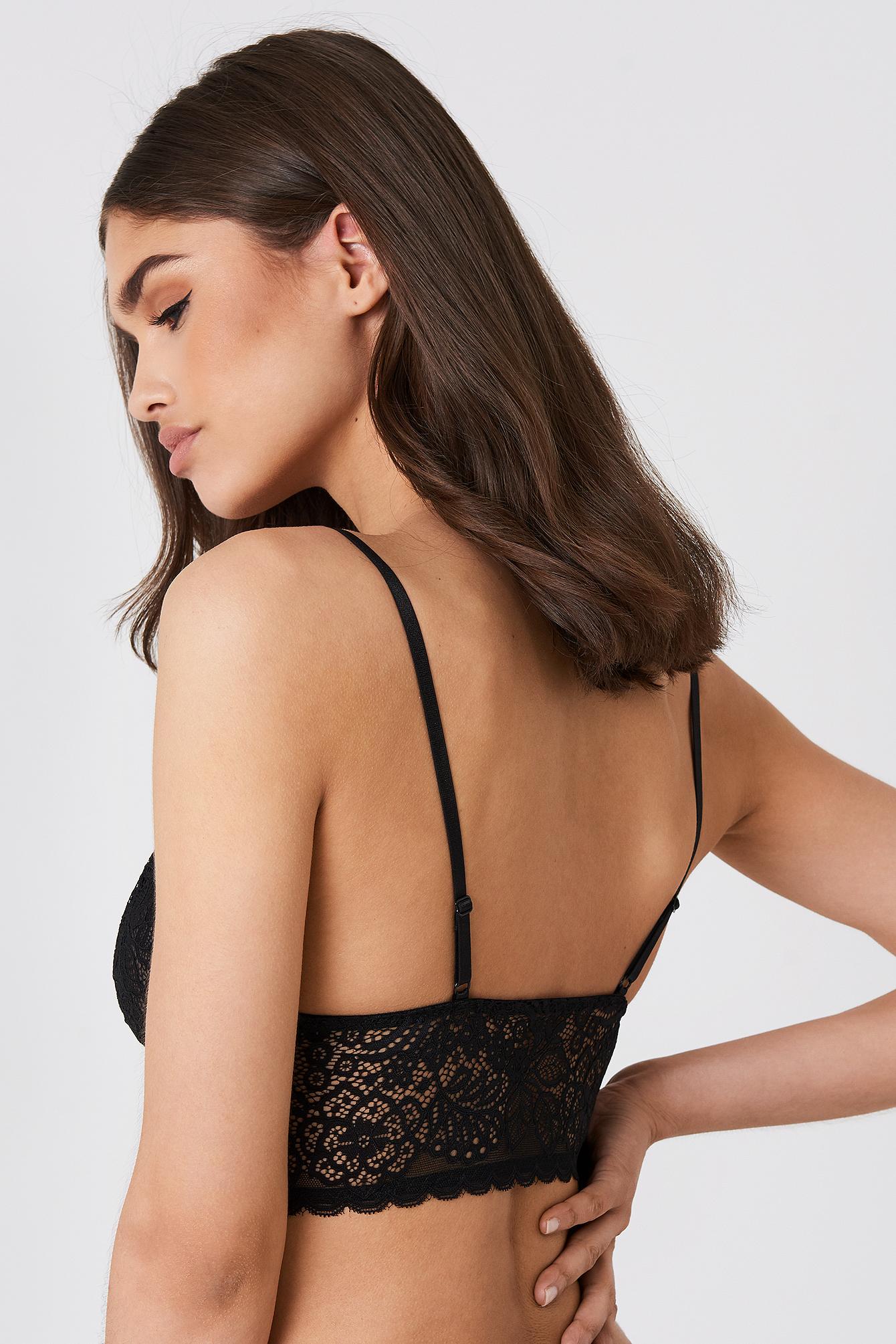 Strap Detail Lace Bralette NA-KD.COM