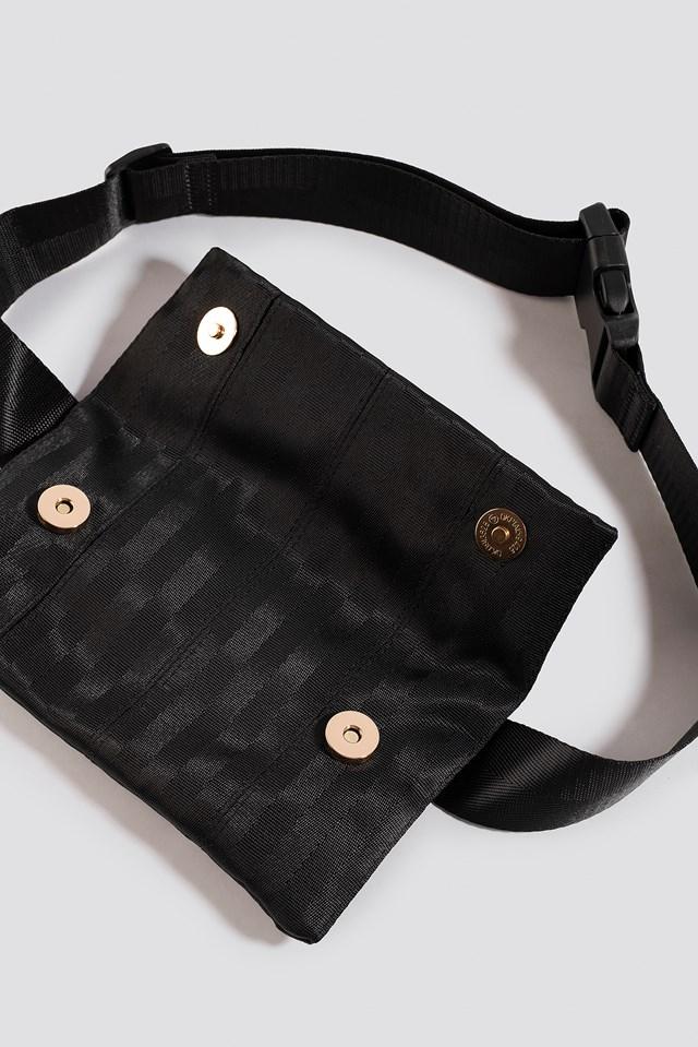 Strap Look Belt Bag Black