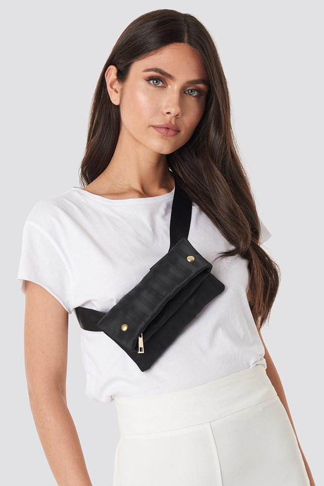 Strap Look Belt Bag Black