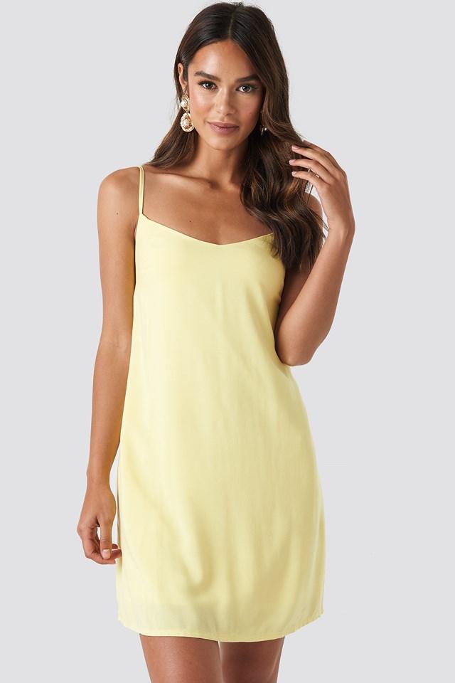 Strap Mini Dress Yellow