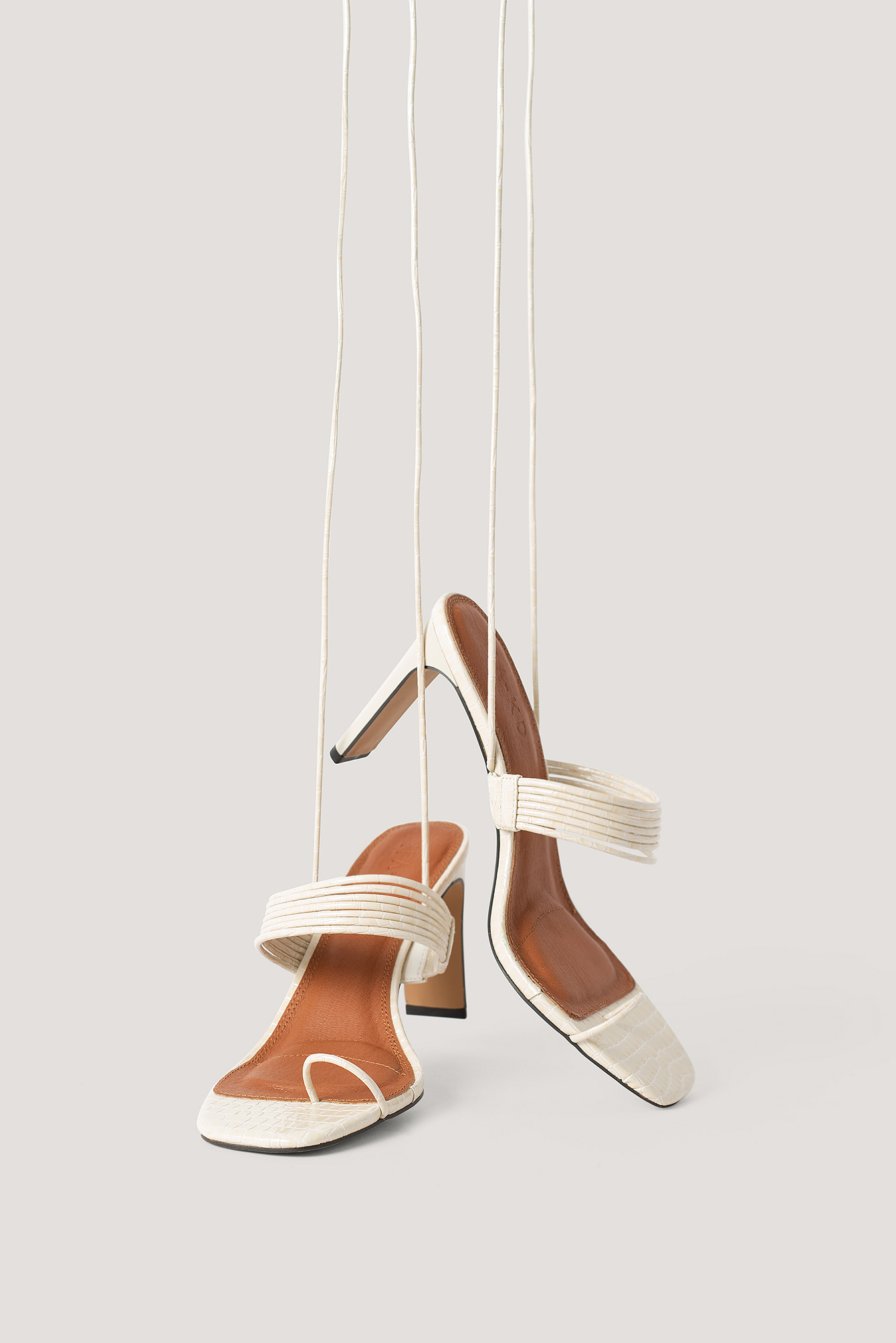 na-kd shoes -  Sandalen Mit Hohem Absatz - Offwhite