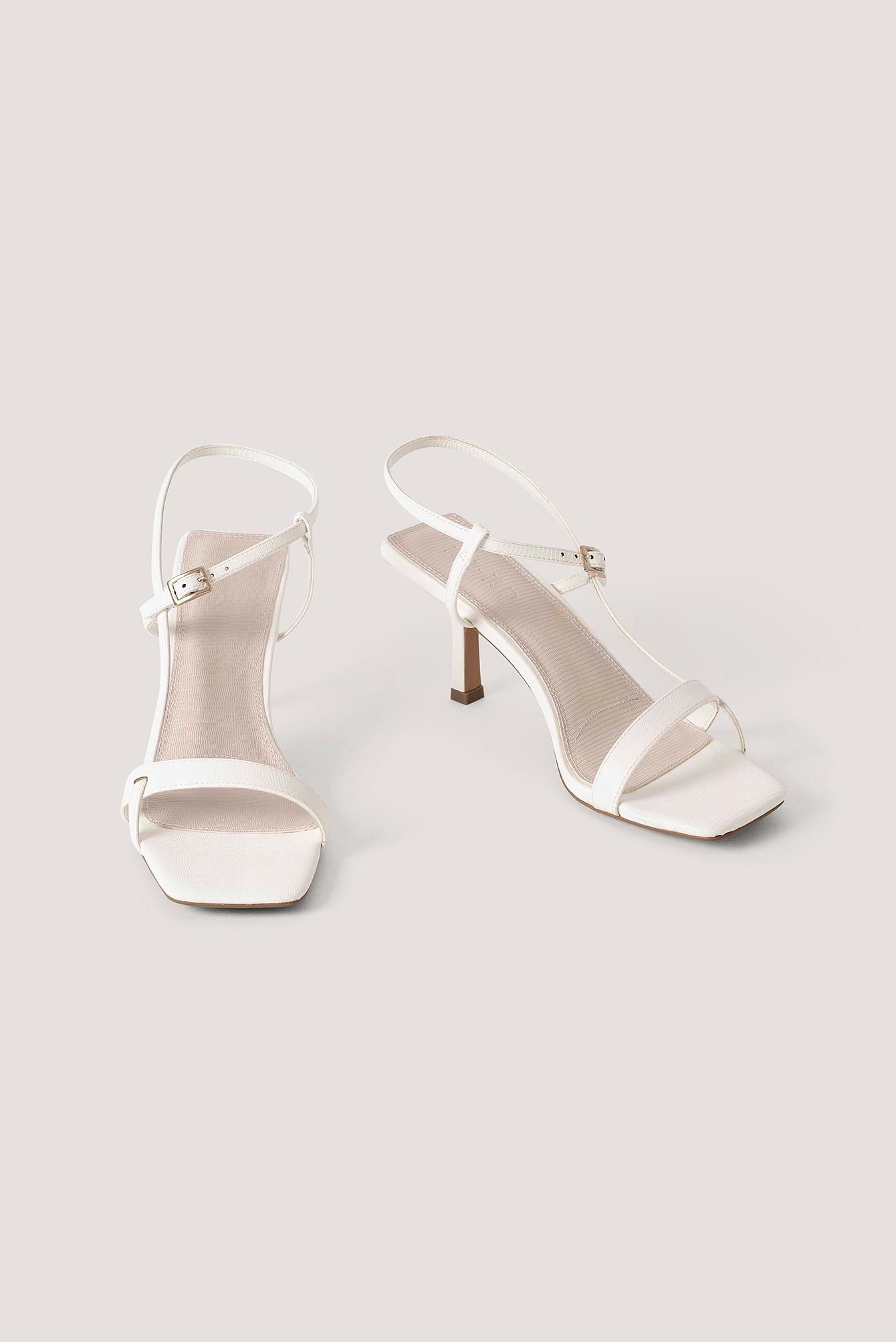 na-kd shoes -  Multischnalle Quadratisch - White