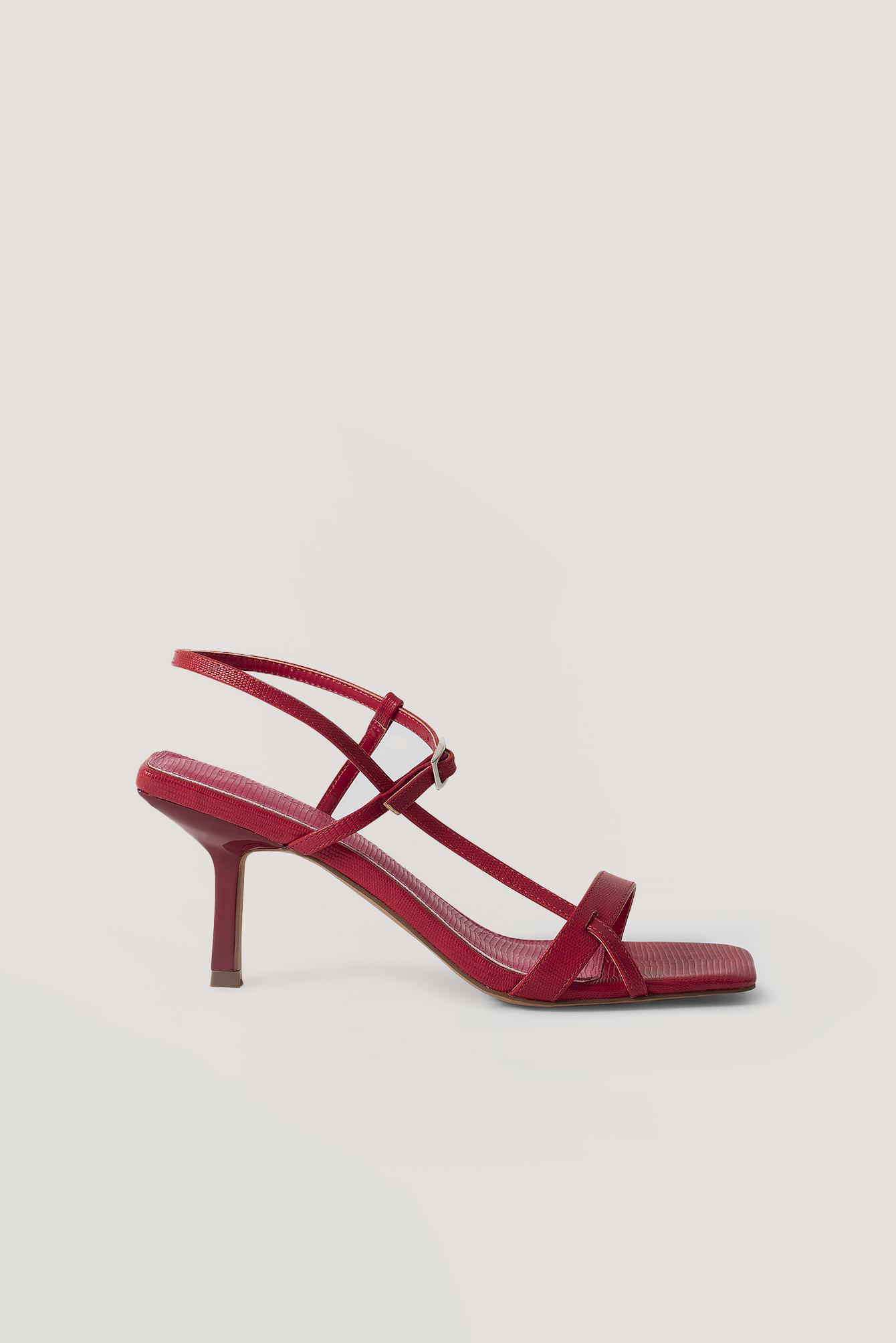na-kd shoes -  Multischnalle Quadratisch - Red