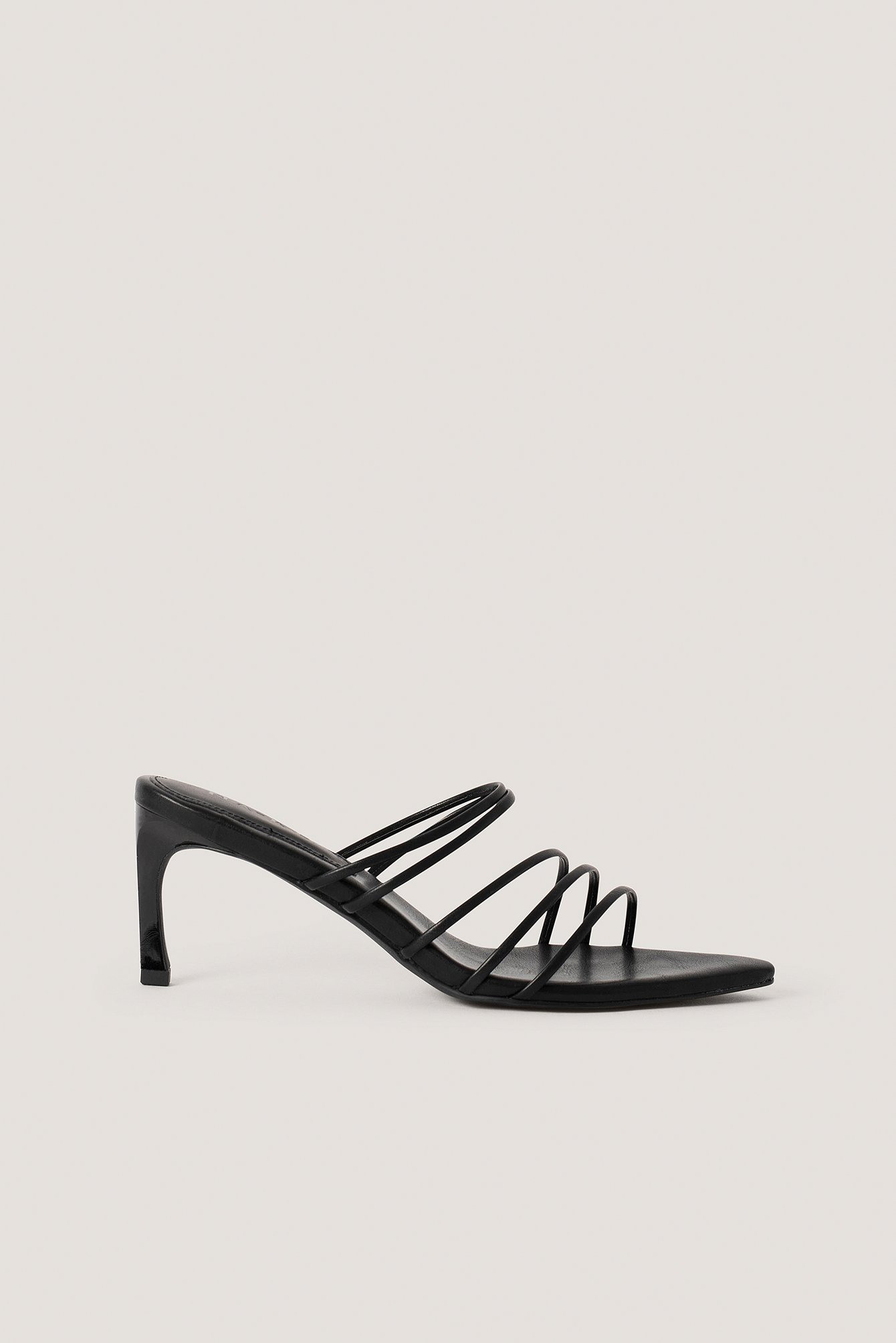 na-kd shoes -  Strappy Pointy Sandals - Black