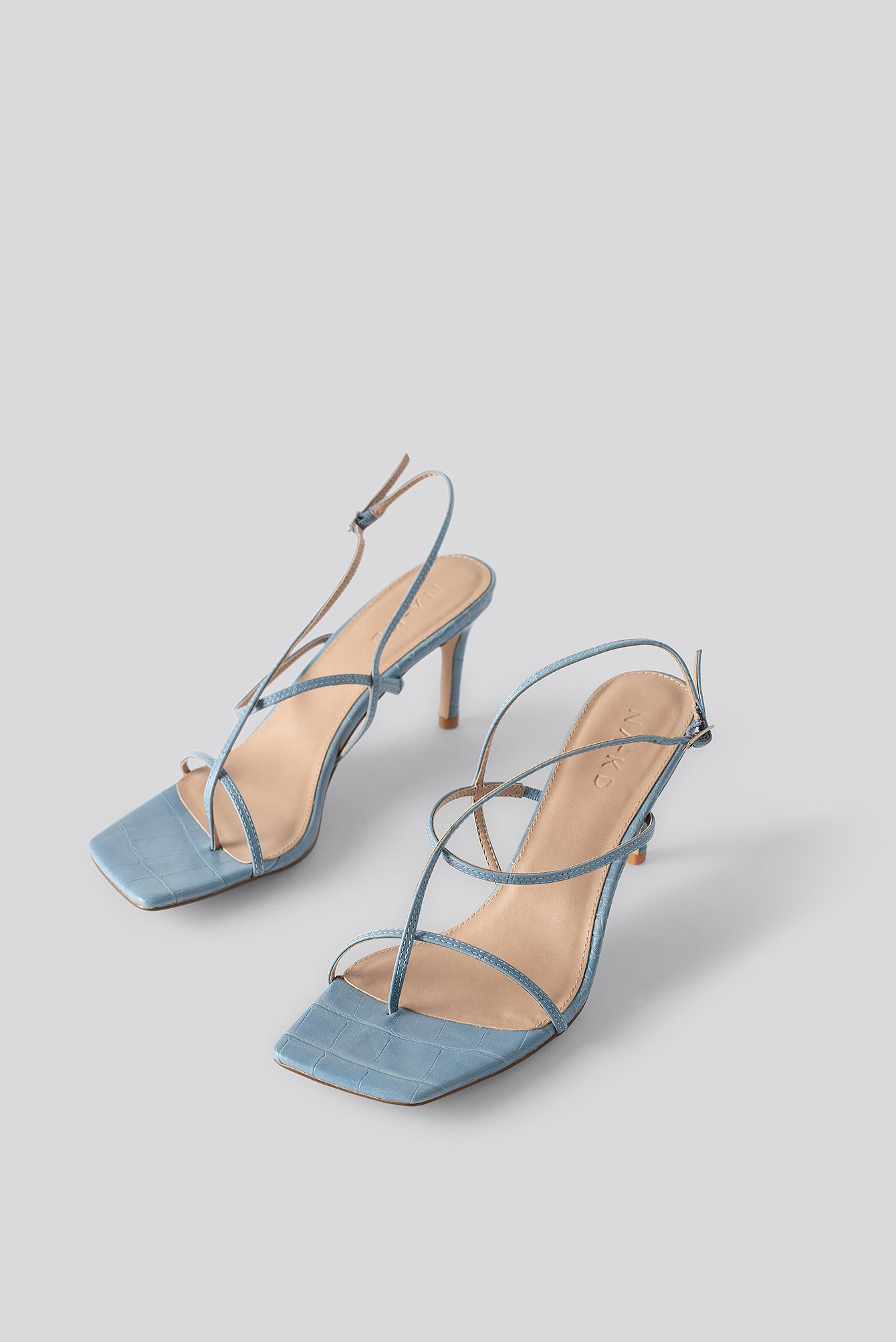na-kd shoes -  Strappy Stiletto Sandals - Blue