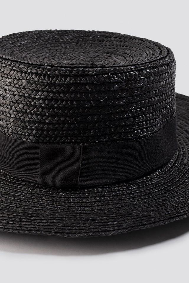 Straw Hat Black