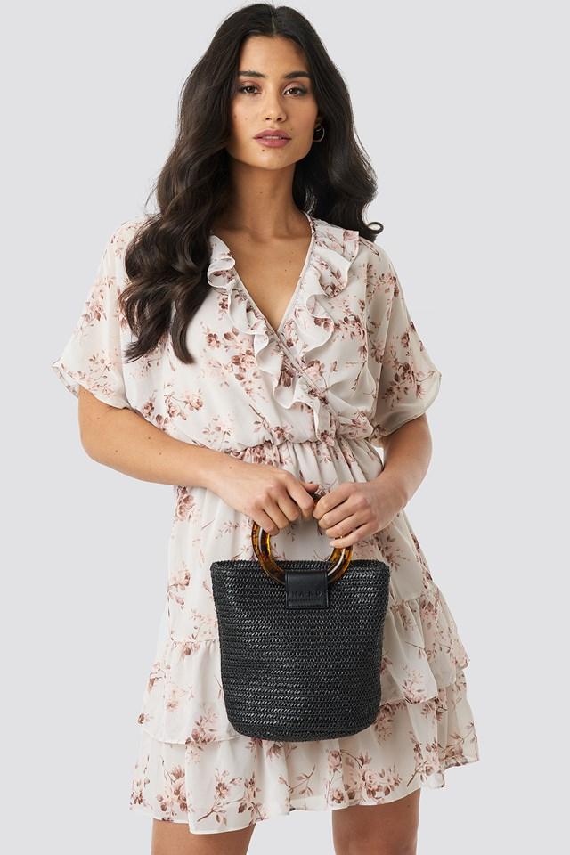Strawy Bucket Bag Black