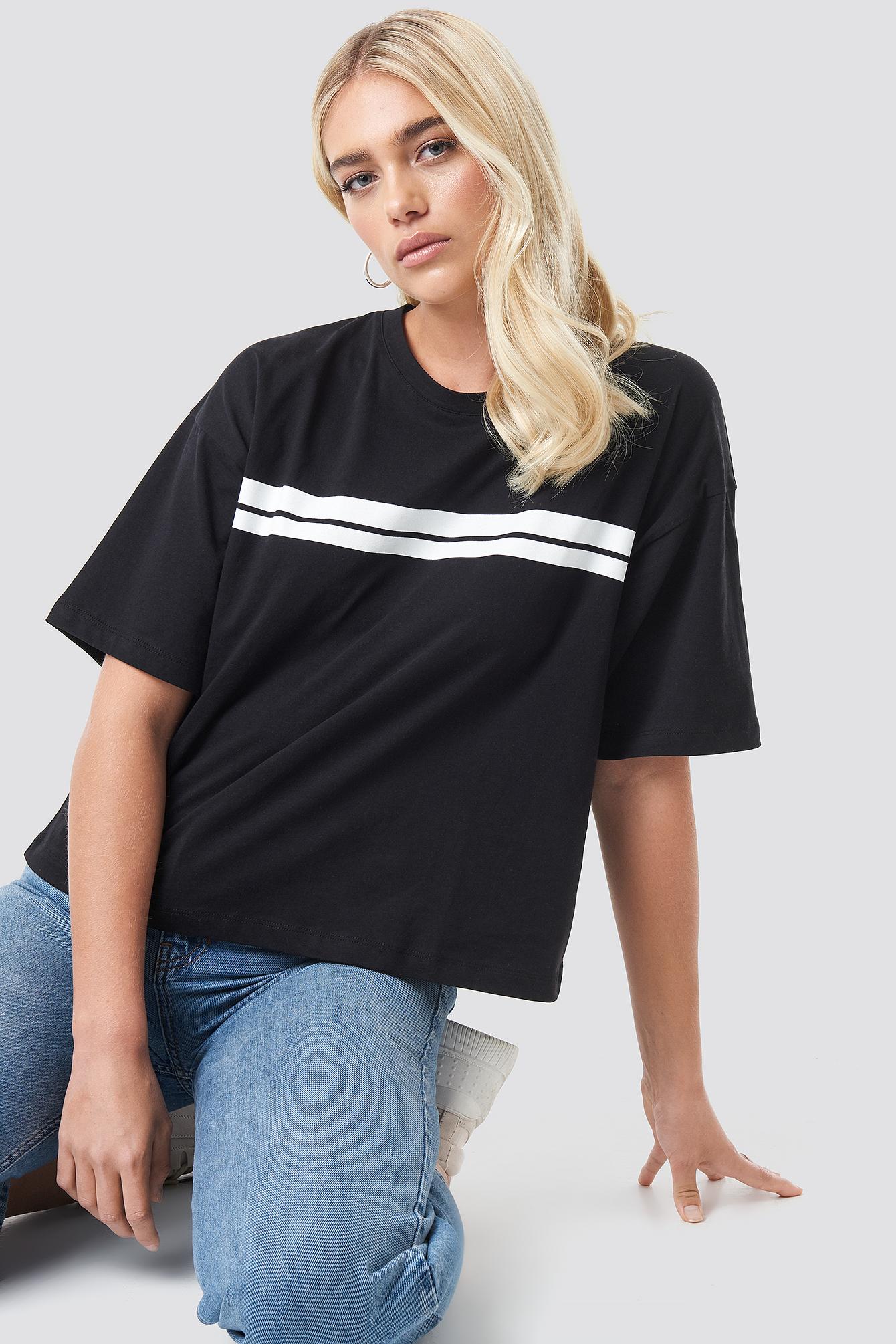 Stripe Oversized Tee NA-KD.COM