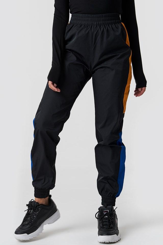 Side Stripe Tracksuit Pants Black Combo