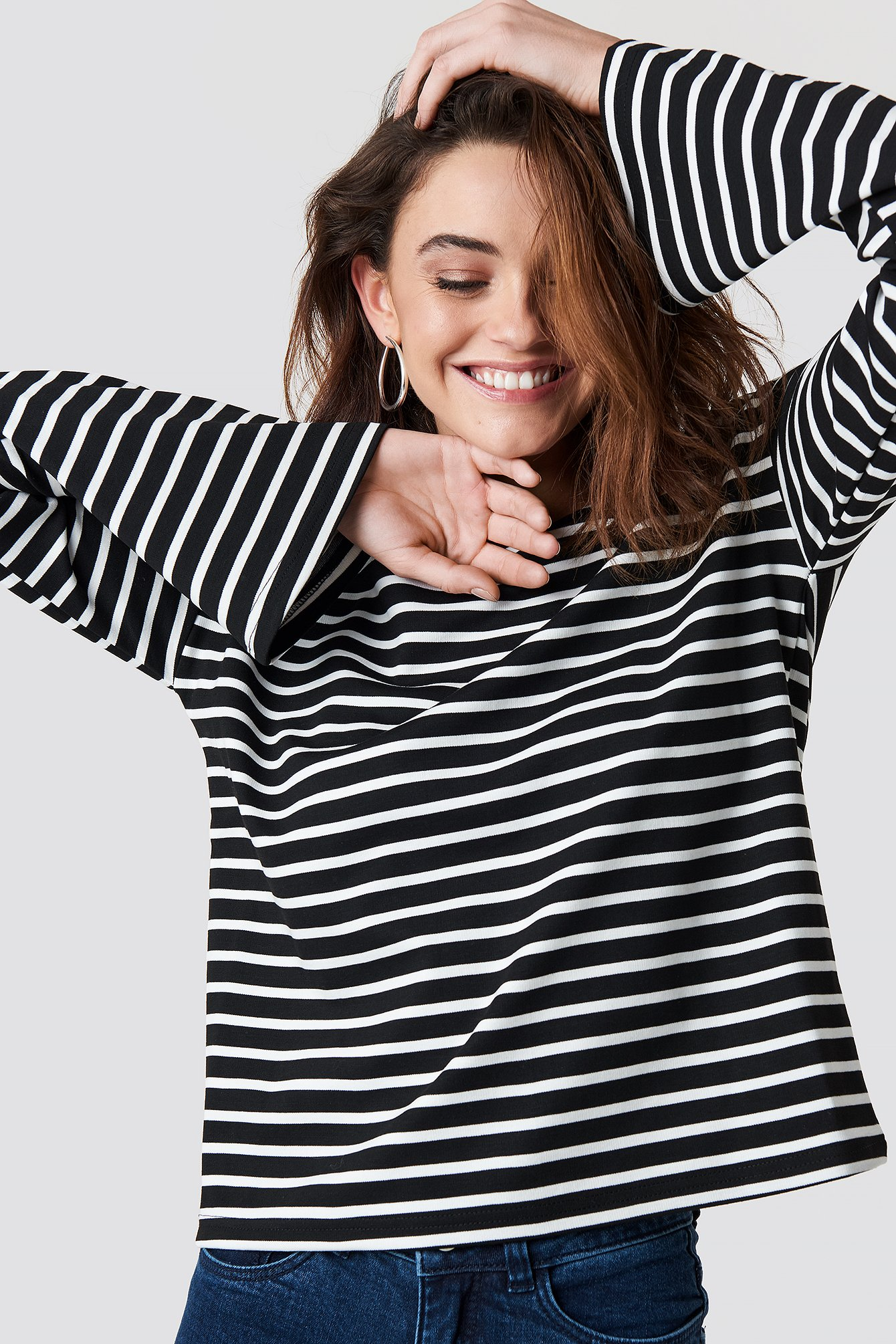 Striped Boat Neck Top NA-KD.COM