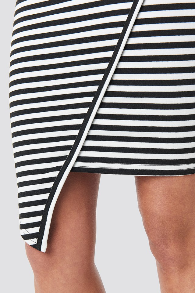 Striped Bodycon Dress Black/White