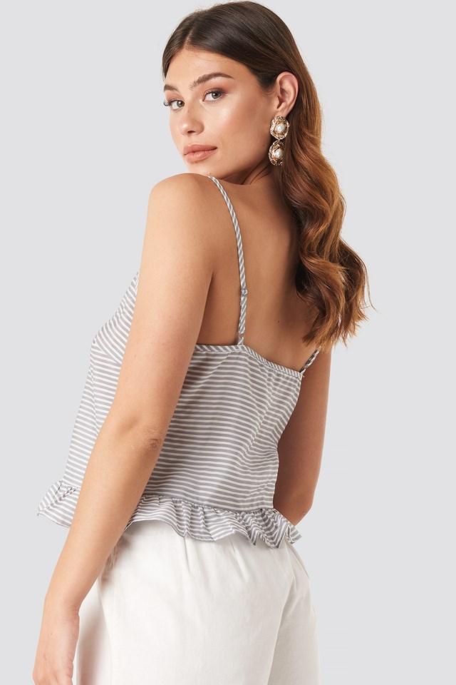 Striped Flounce Singlet Grey