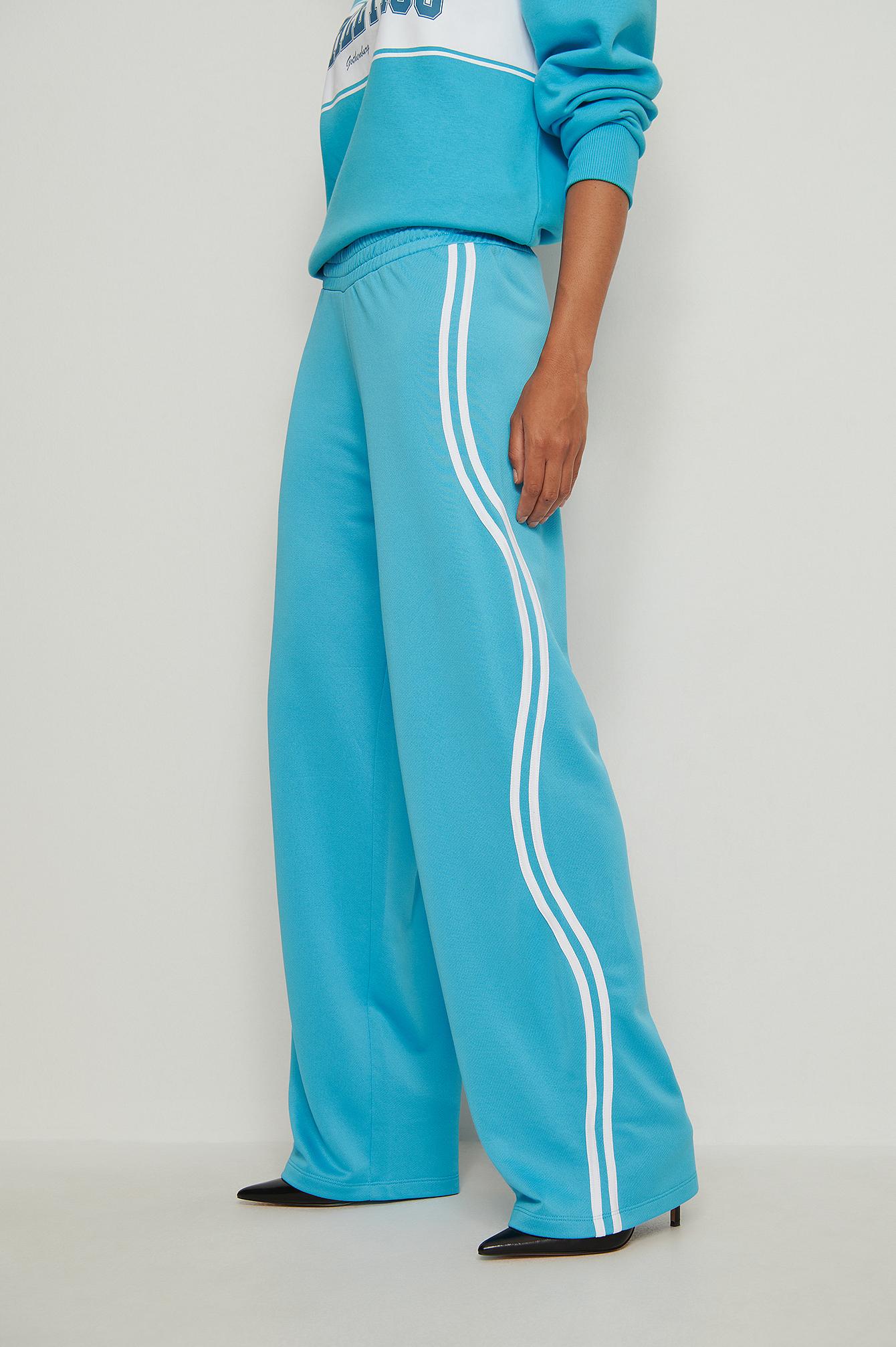 NA-KD Trend Stribede joggingbukser - Blue