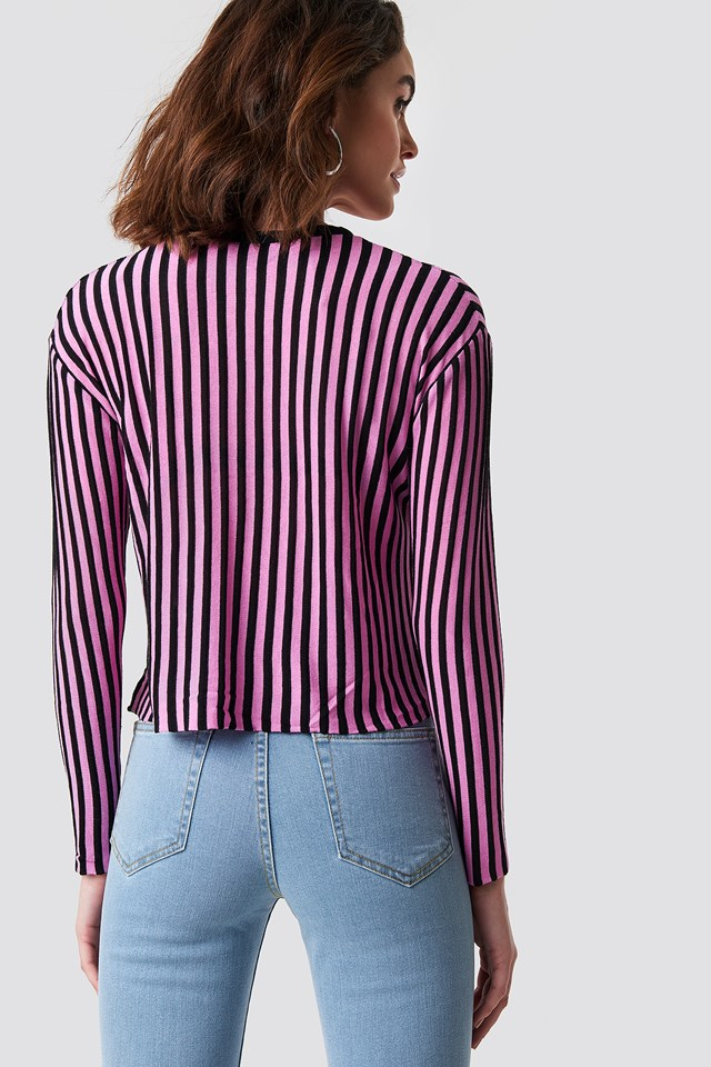 Striped Knitted LS Sweater NA-KD.COM