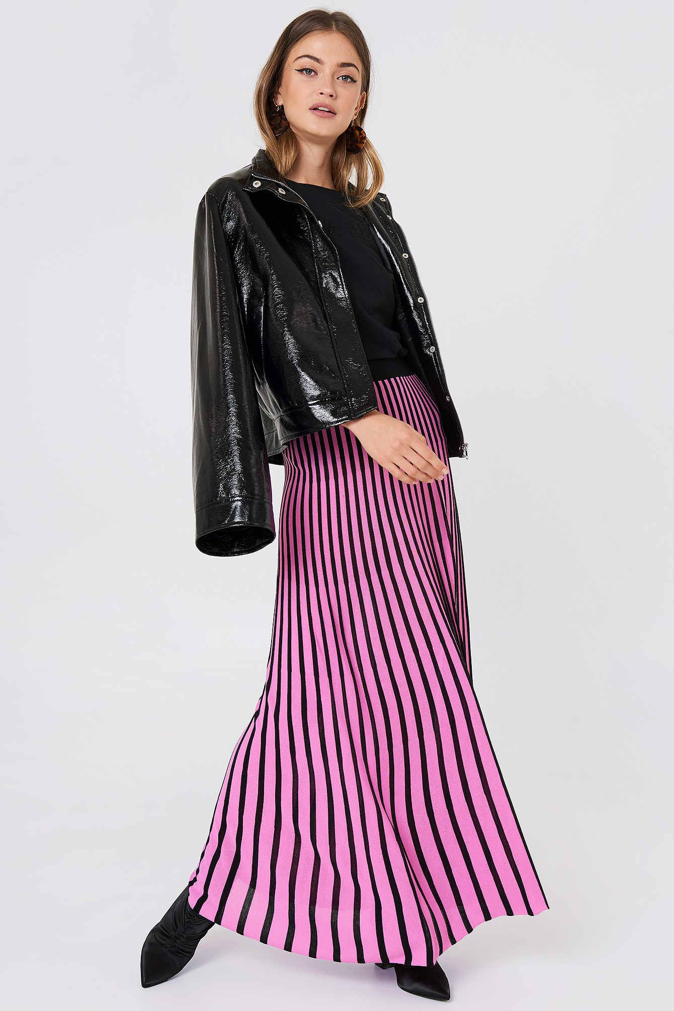 Striped Knitted Skirt NA-KD.COM