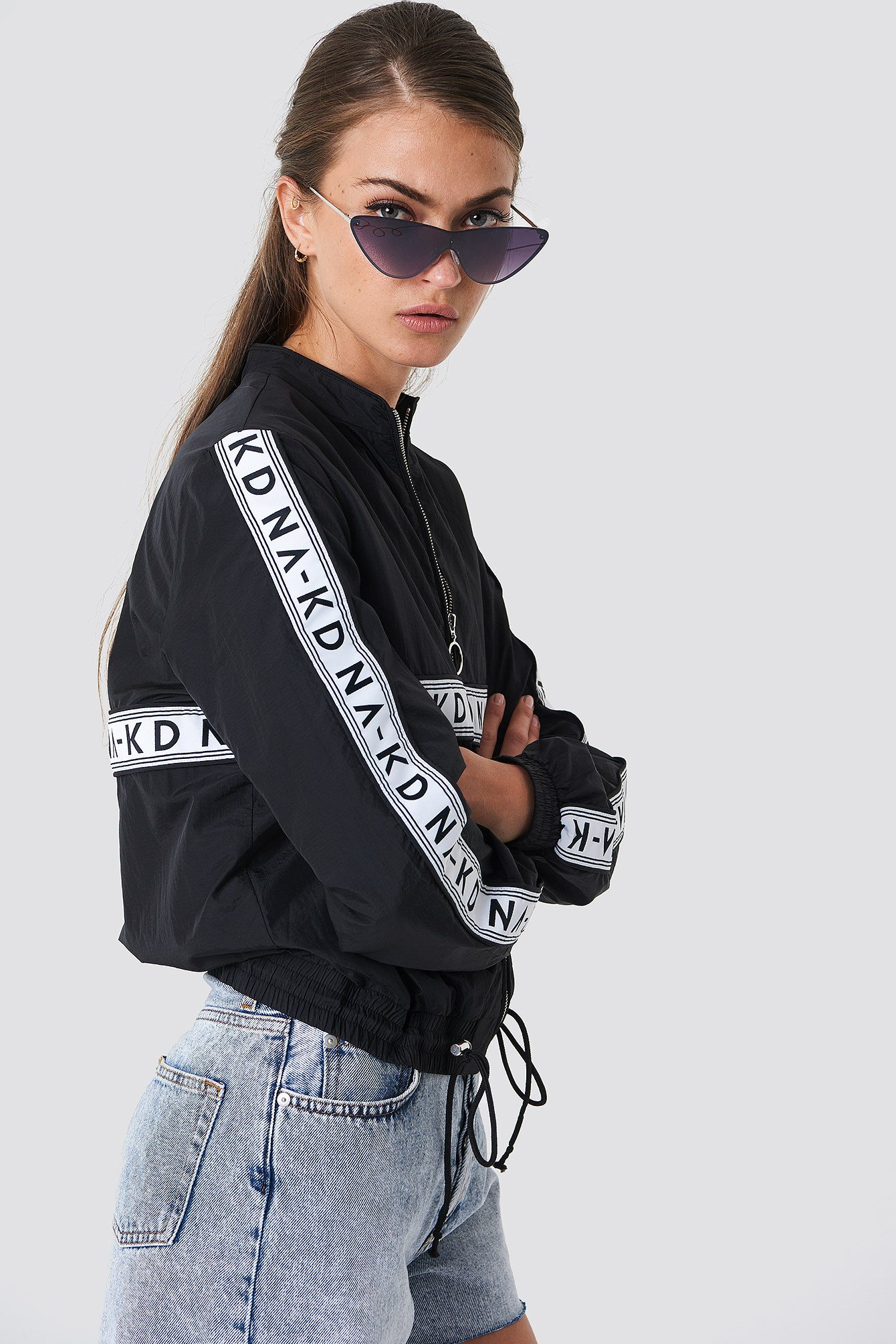 Striped Logo Tracksuit Jacket NA-KD.COM