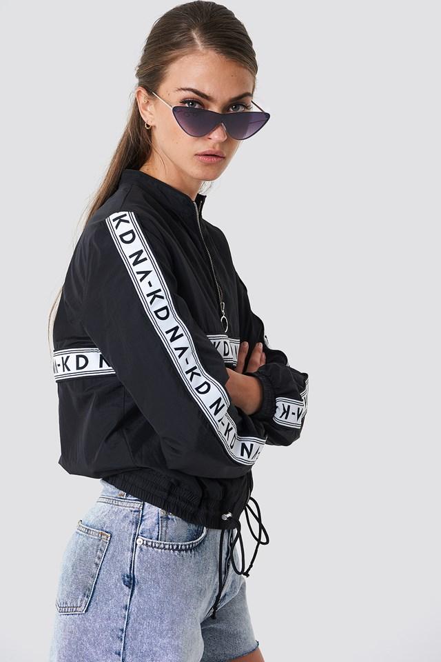 Striped Logo Tracksuit Jacket Black