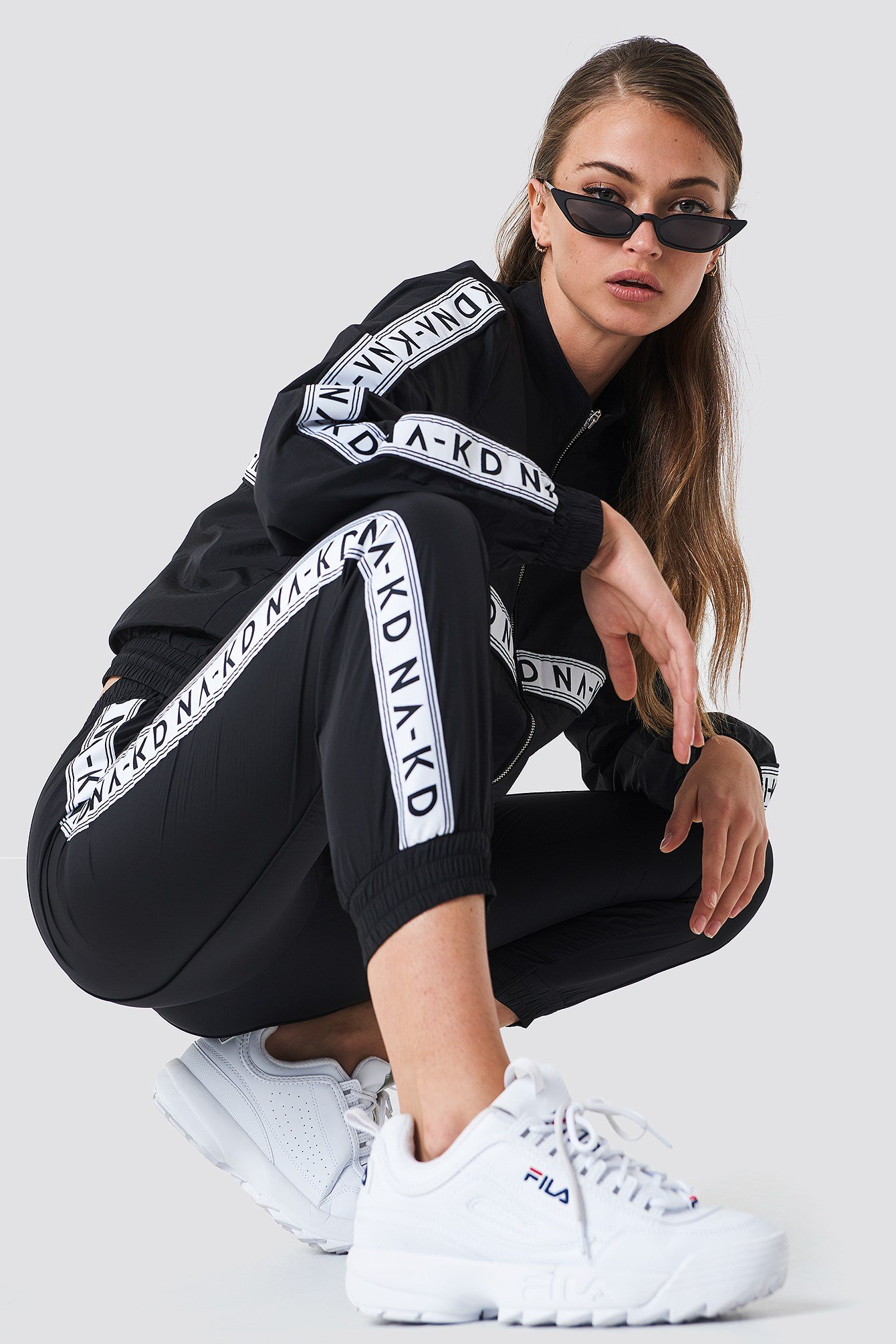 Striped Logo Tracksuit Pants NA-KD.COM