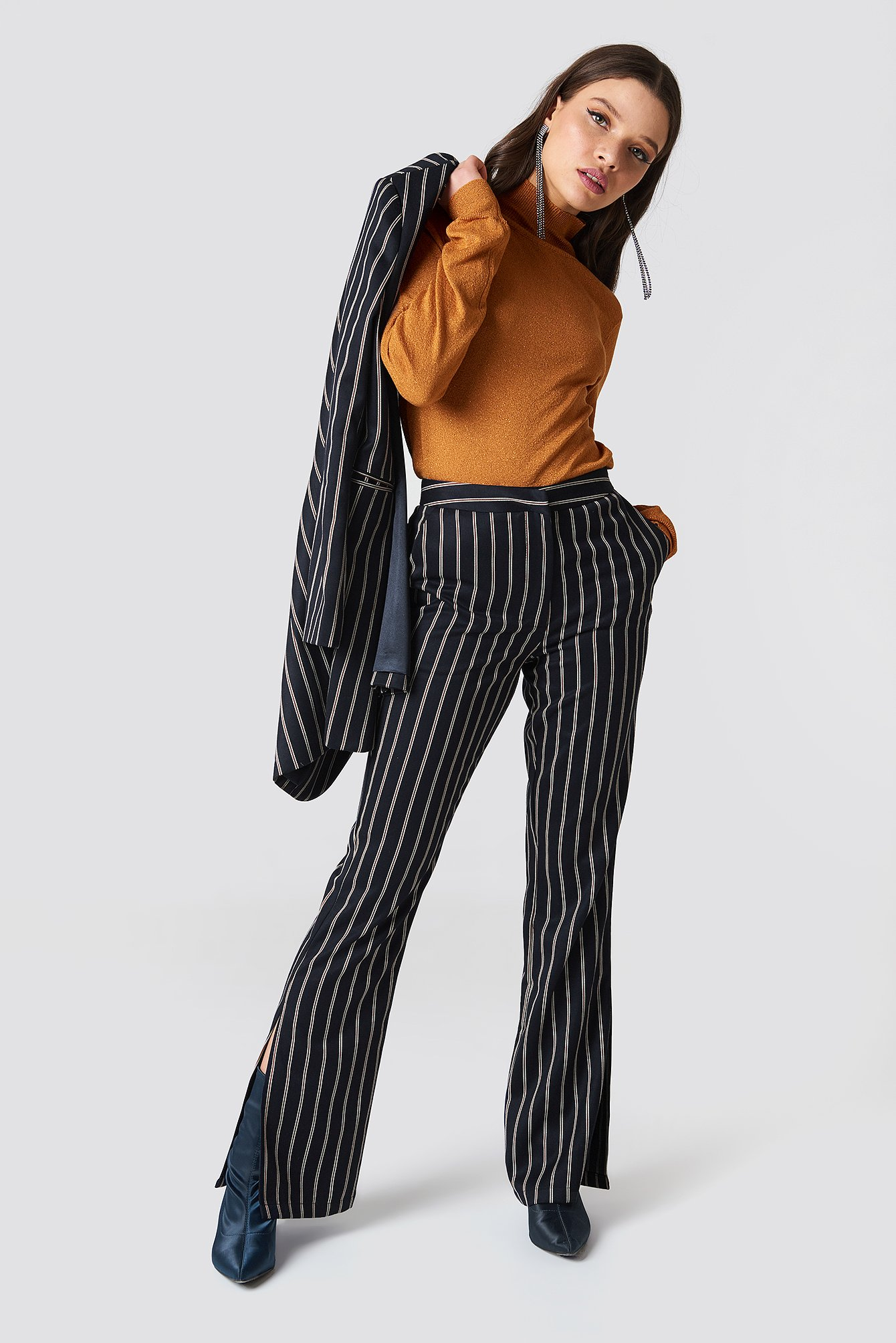 Side Slit Suit Pants NA-KD.COM