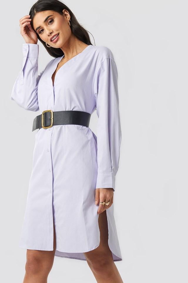 Striped Long Shirt Dress NA-KD.COM