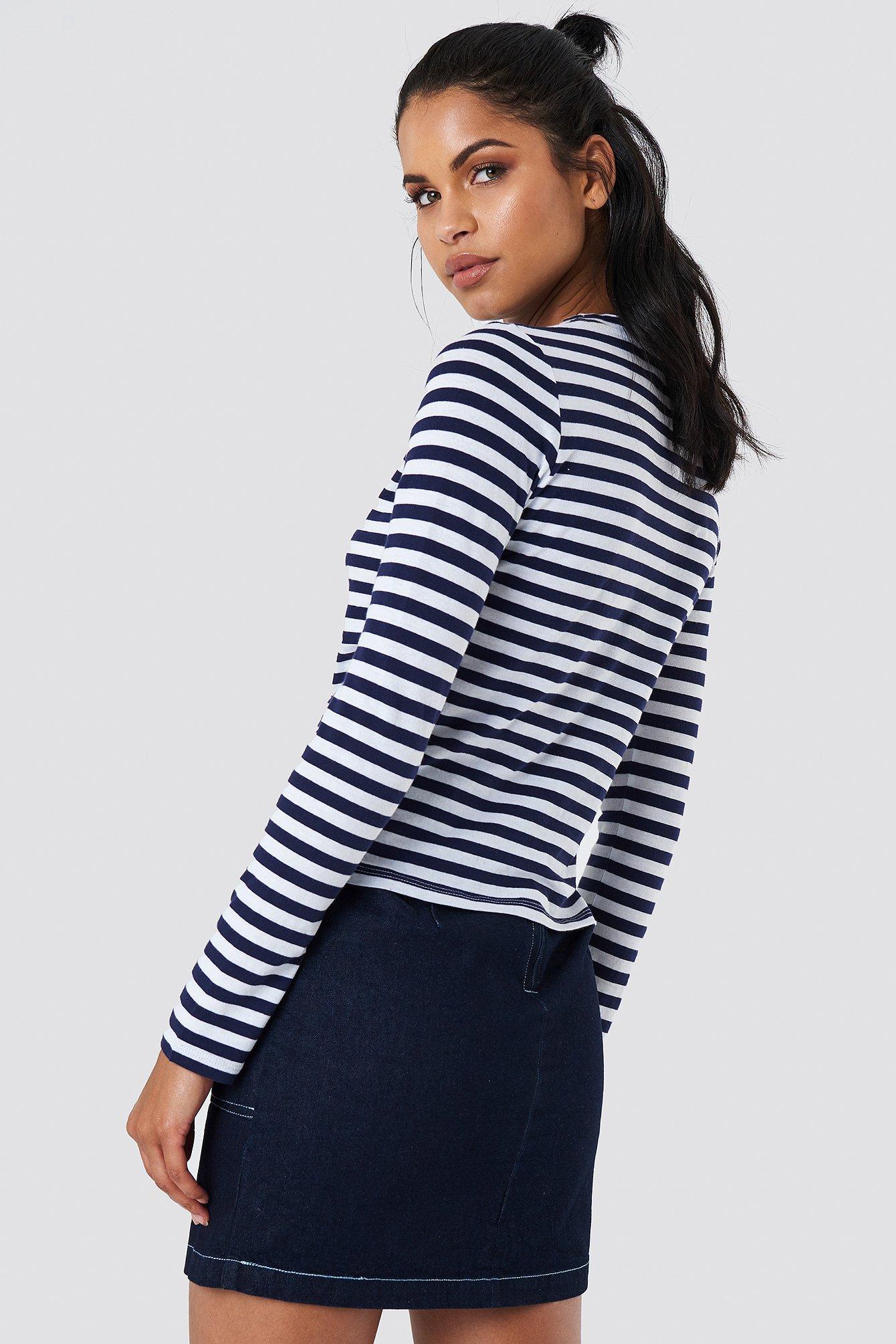 Striped Long Sleeve Top NA-KD.COM