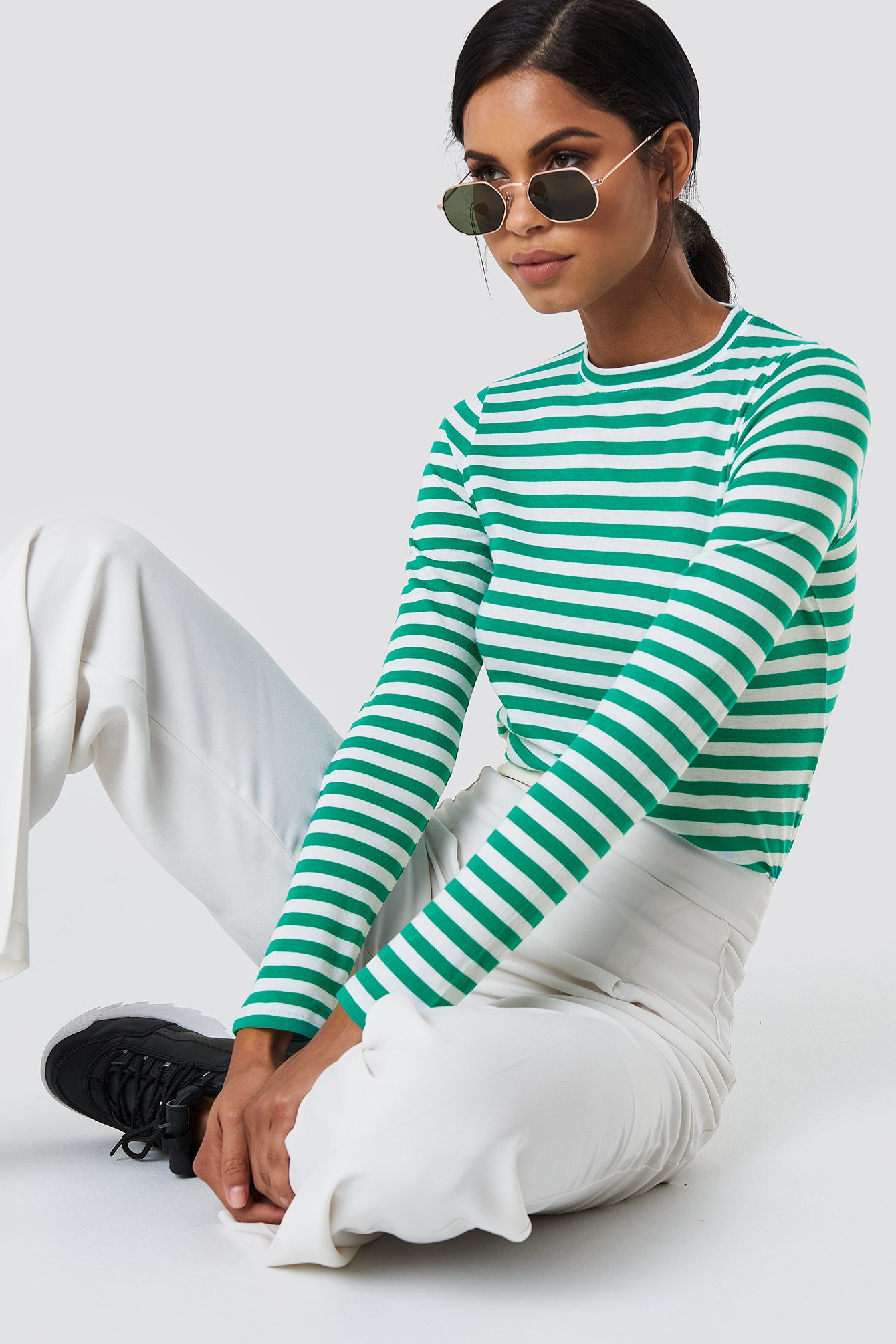 Striped Long Sleeve Top NA-KD.COM