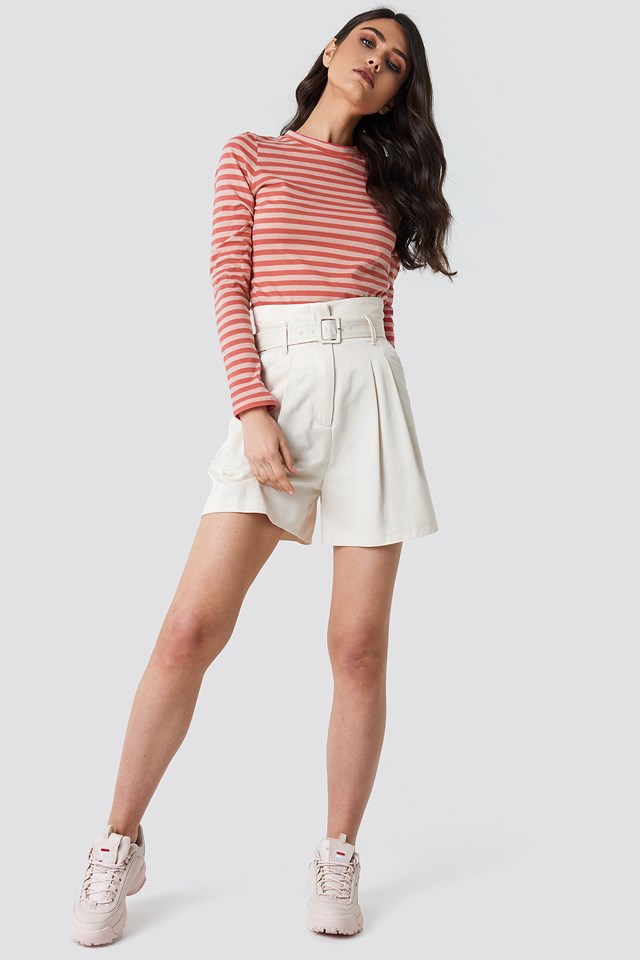 Striped Long Sleeve Top Pink/Red