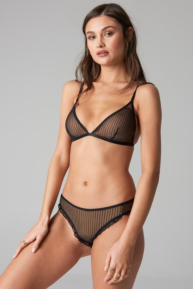 Striped Mesh Panty NA-KD.COM