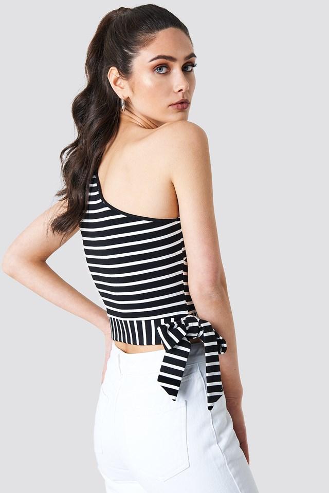 Striped One Shoulder Top NA-KD.COM