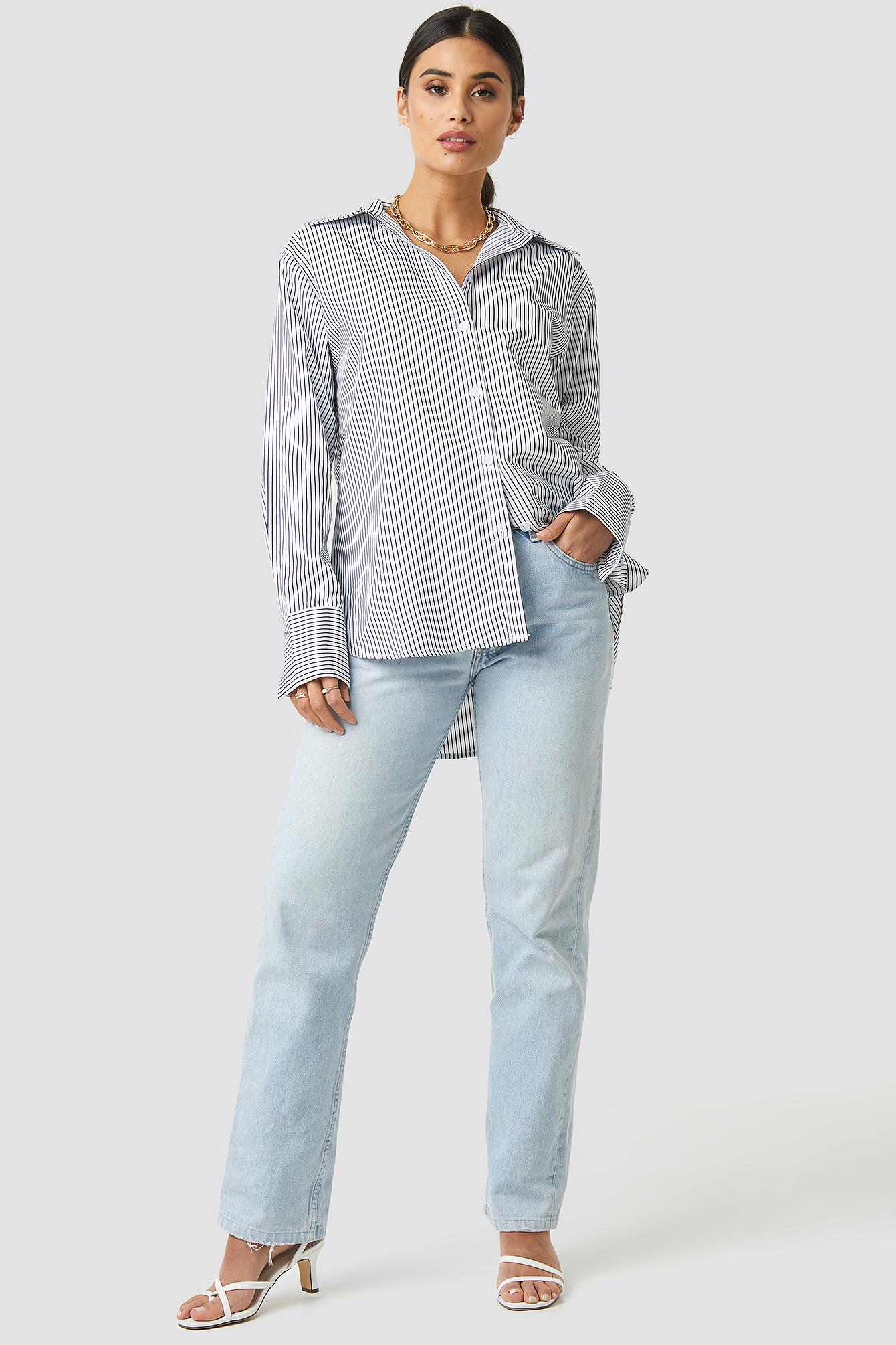 Striped Oversized Shirt NA-KD.COM