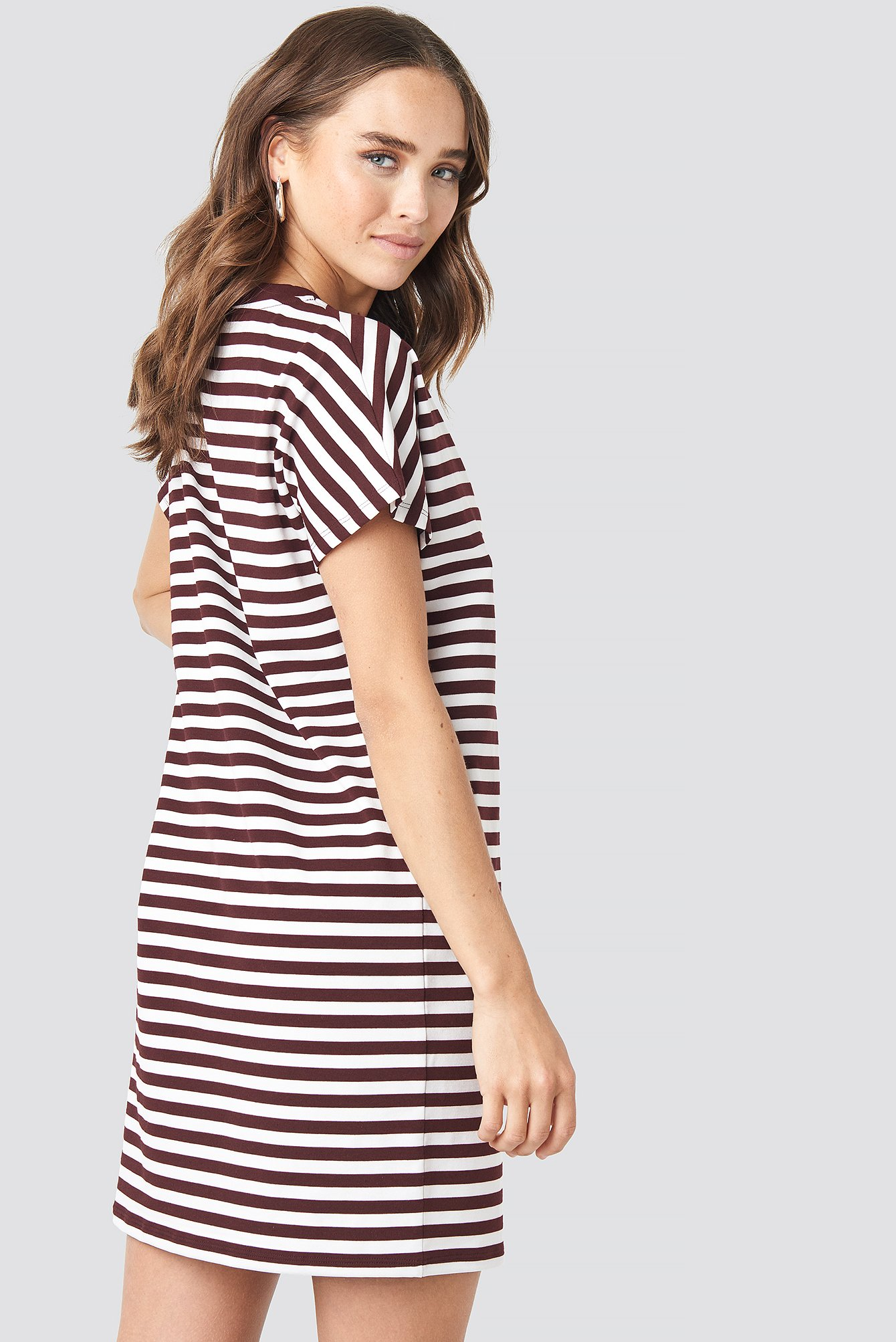 Striped Oversized T-shirt Dress NA-KD.COM