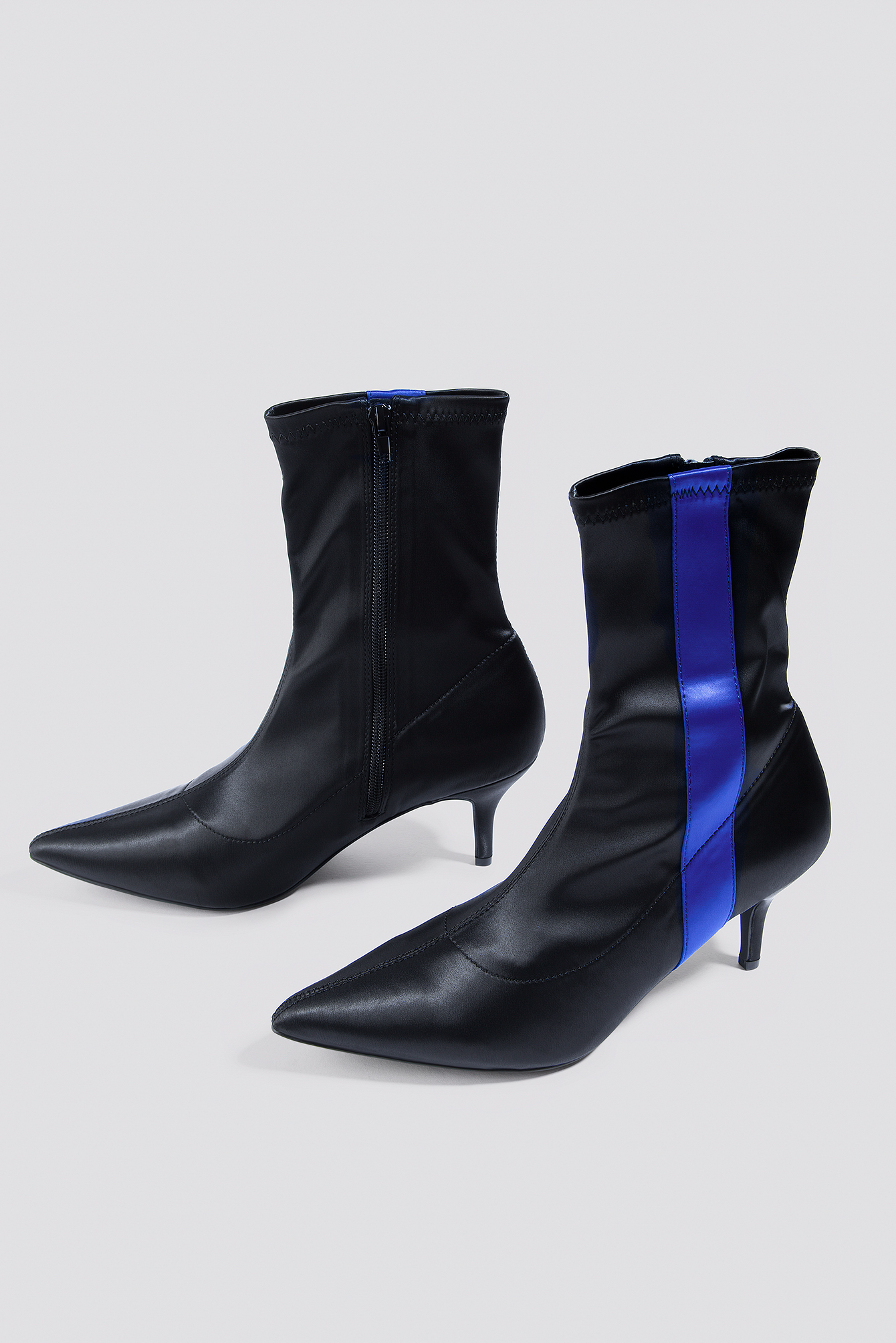 Striped Satin Sock Boots NA-KD.COM