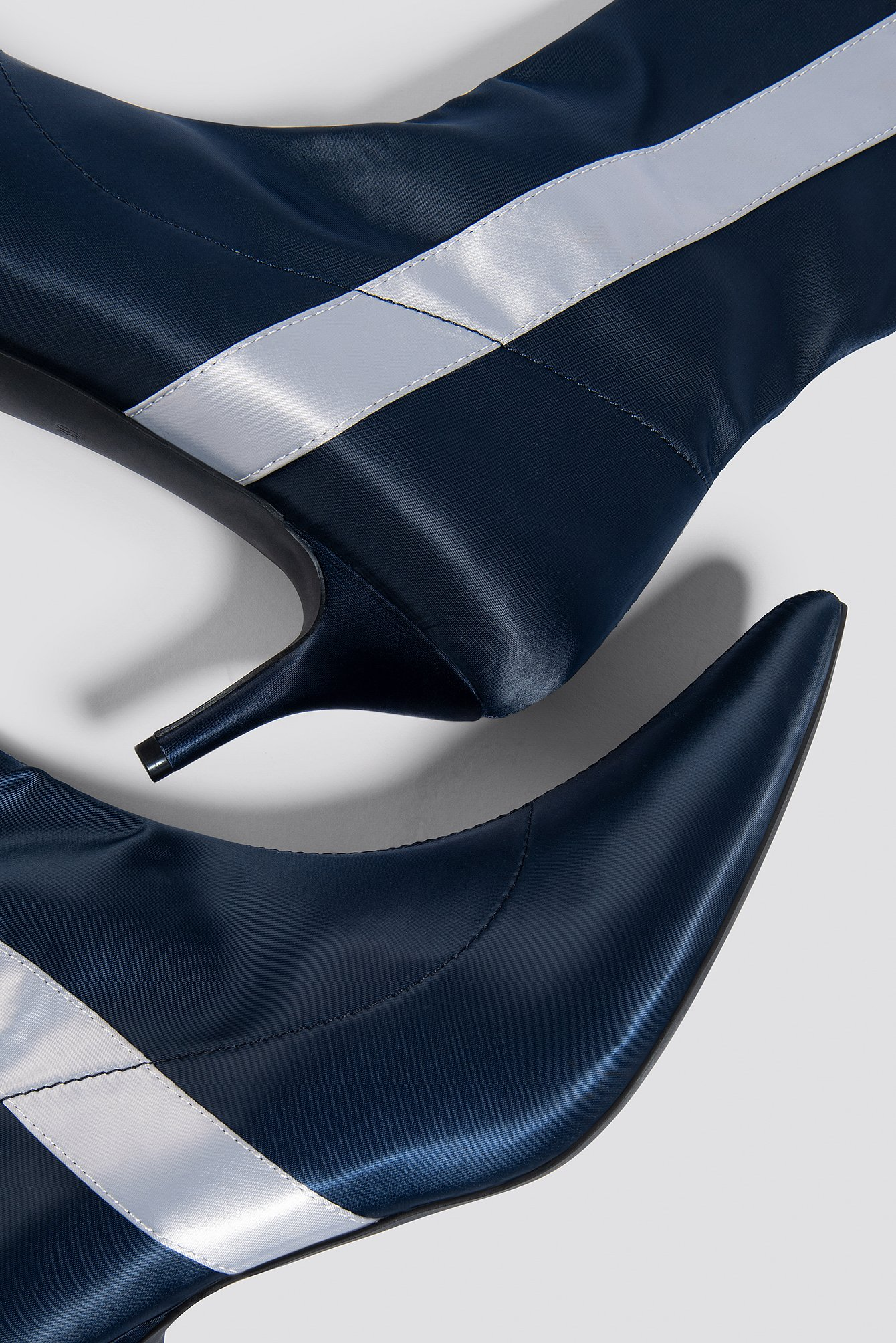 Striped Satin Sock Boots NA-KD.COM