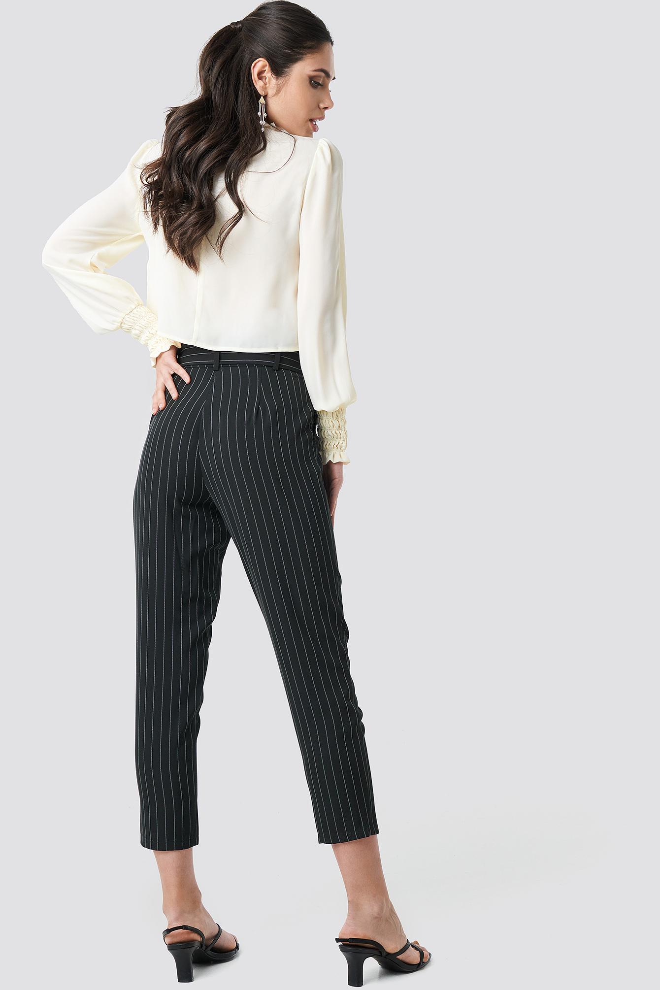 Striped Tied Waist Pants NA-KD.COM