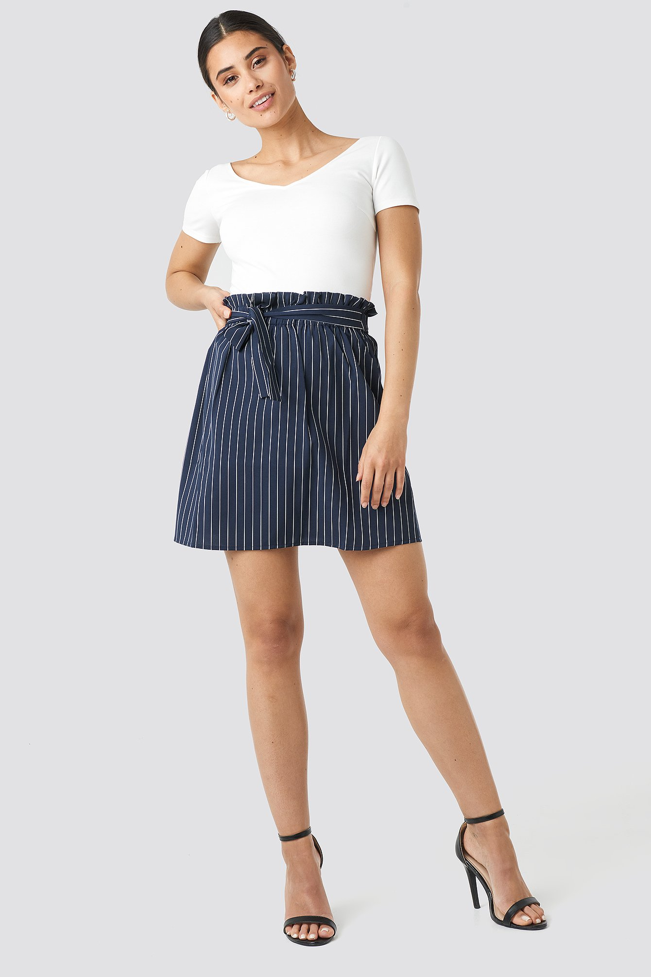 Striped Tied Waist Skirt NA-KD.COM