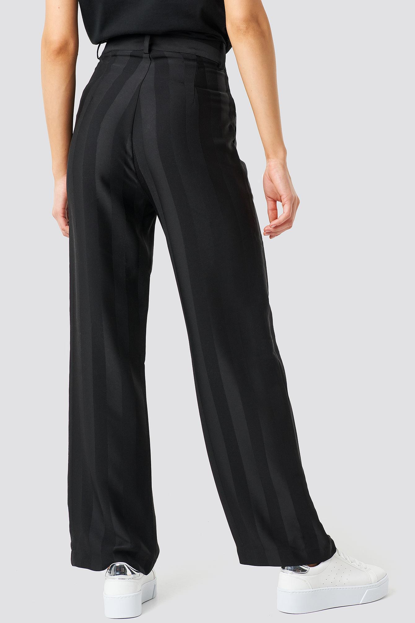 Striped Wide Trousers NA-KD.COM