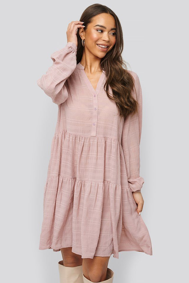 Structure A-Line Dress Dark Dusty Pink
