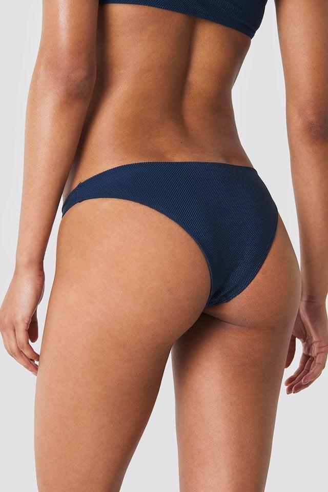 Structured Bikini Panty Dark Blue